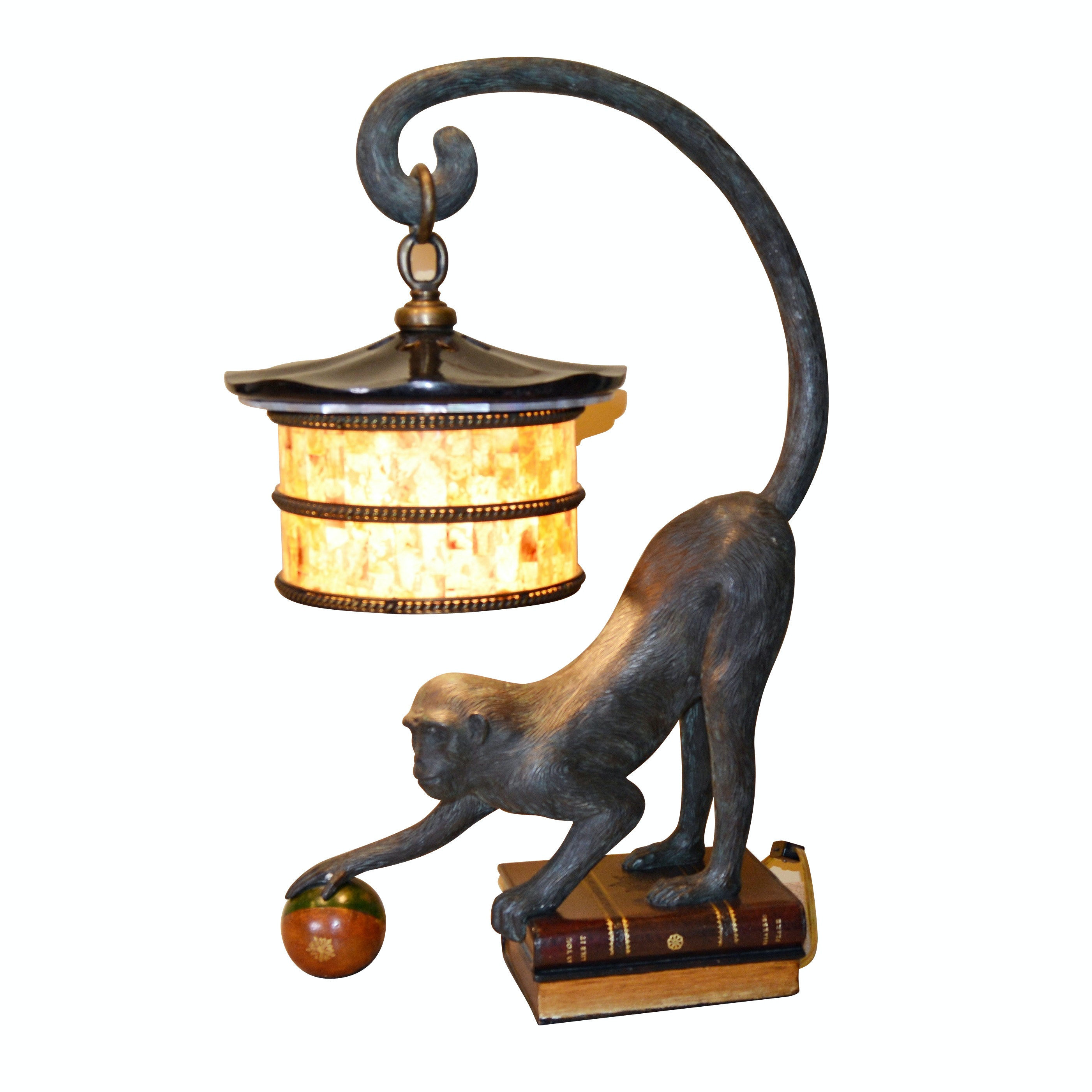 Monkey with Lantern Table Lamp by Maitland-Smith