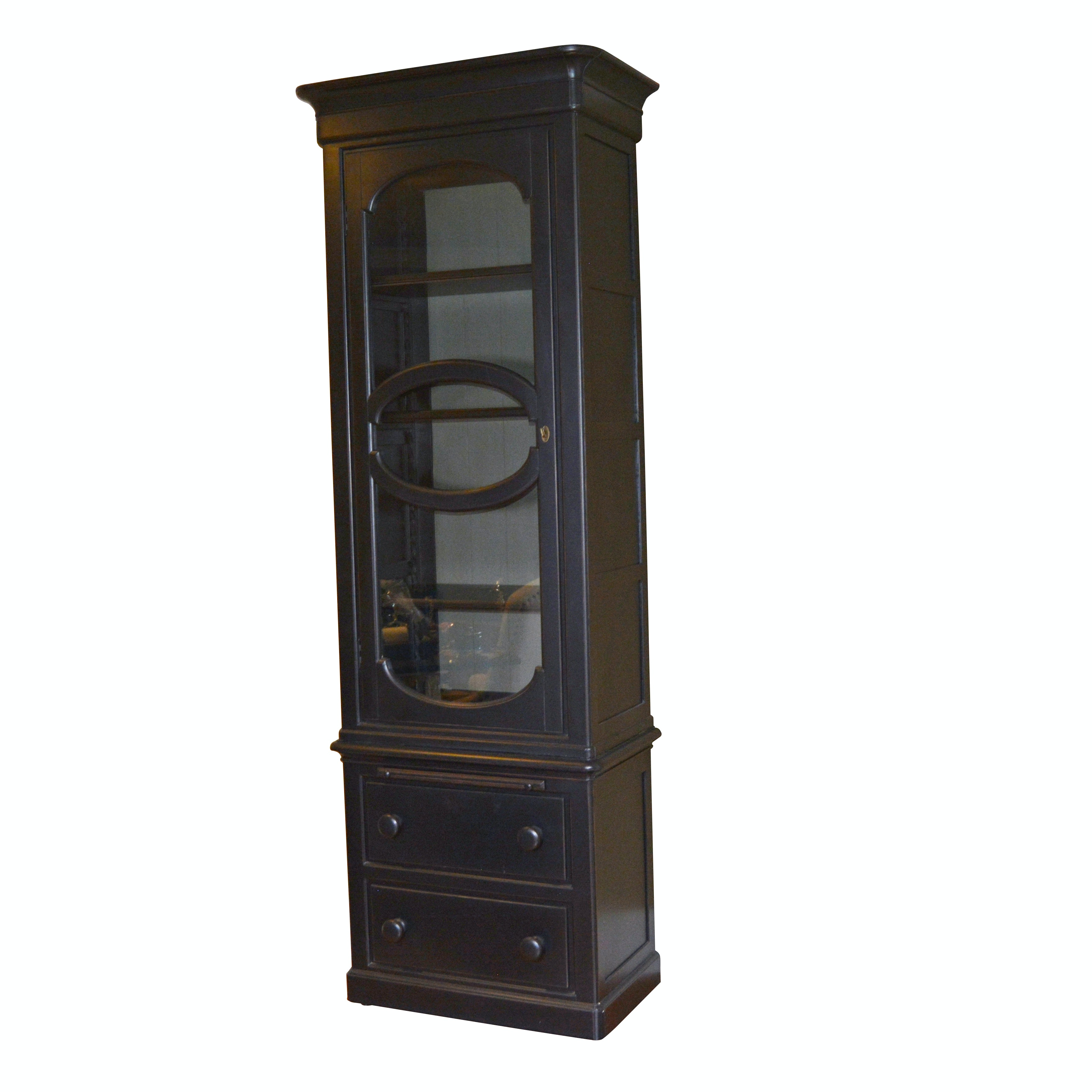 Contemporary Black Display Cabinet by London