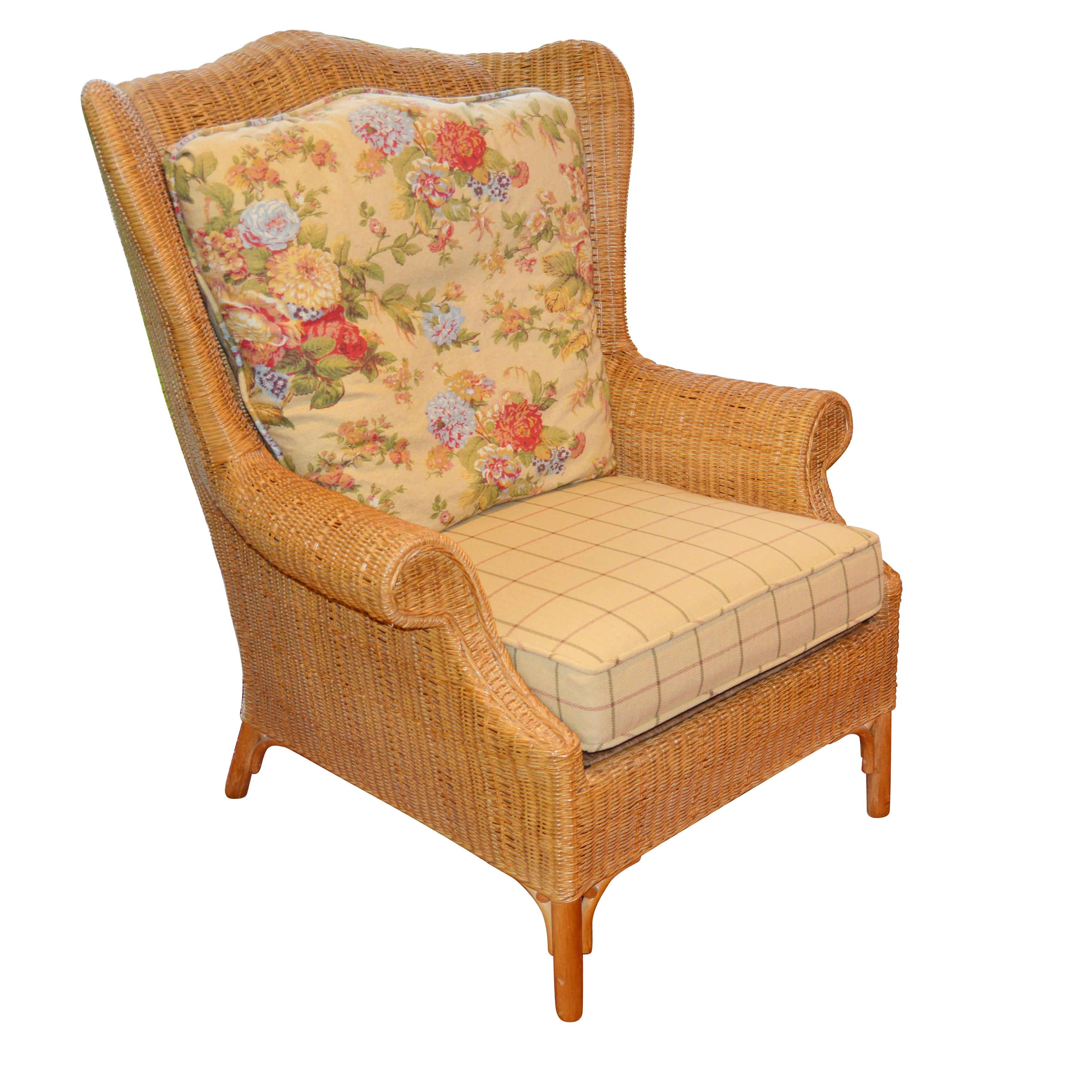 Rattan Wingback Chair by Lexington Casual