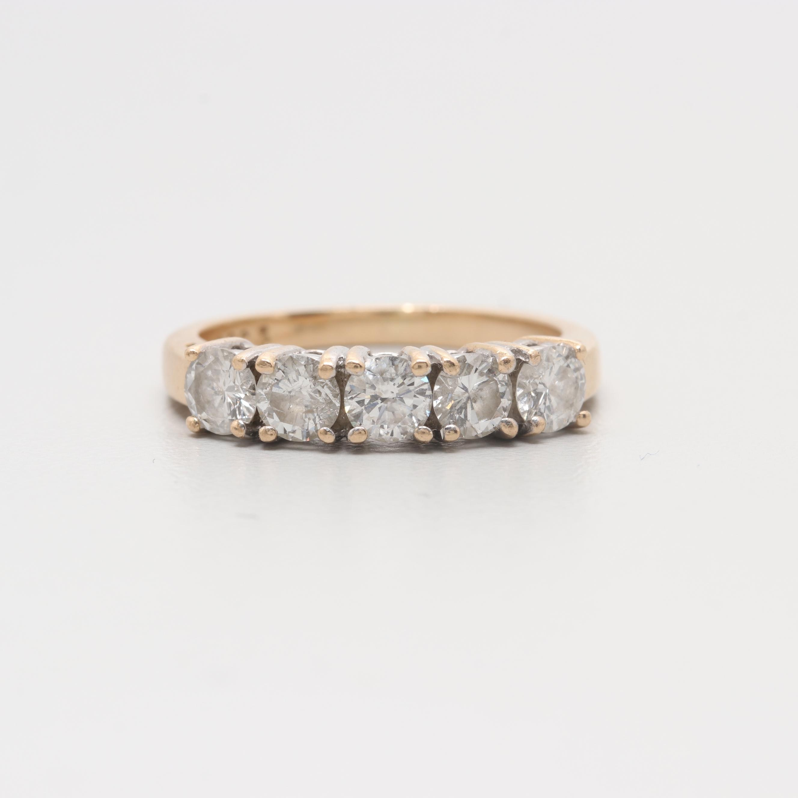 14K Yellow and White Gold 1.01 CTW Diamond Ring