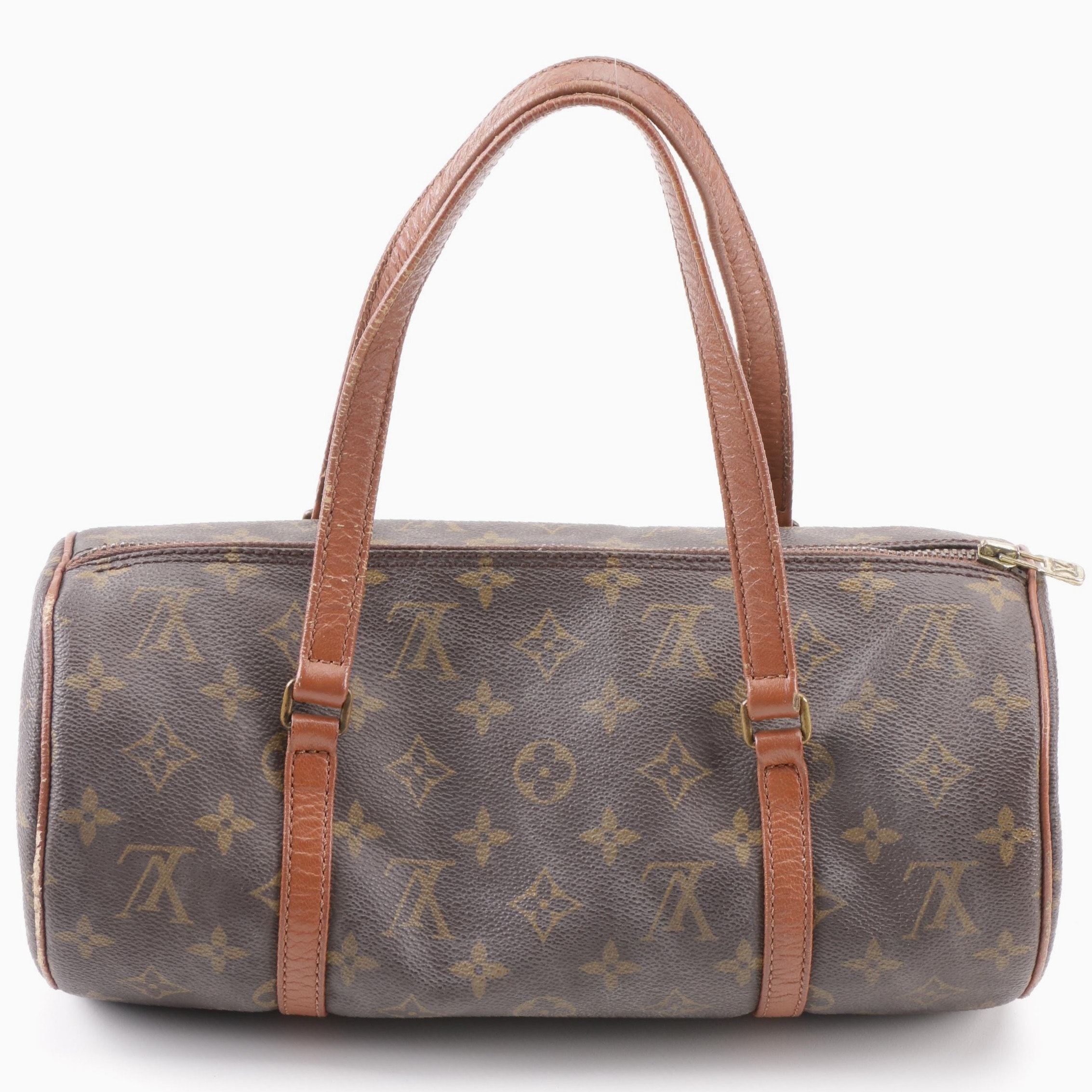 1985 Vintage Louis Vuitton Paris Monogram Canvas Papillion 30 Barrel Bag