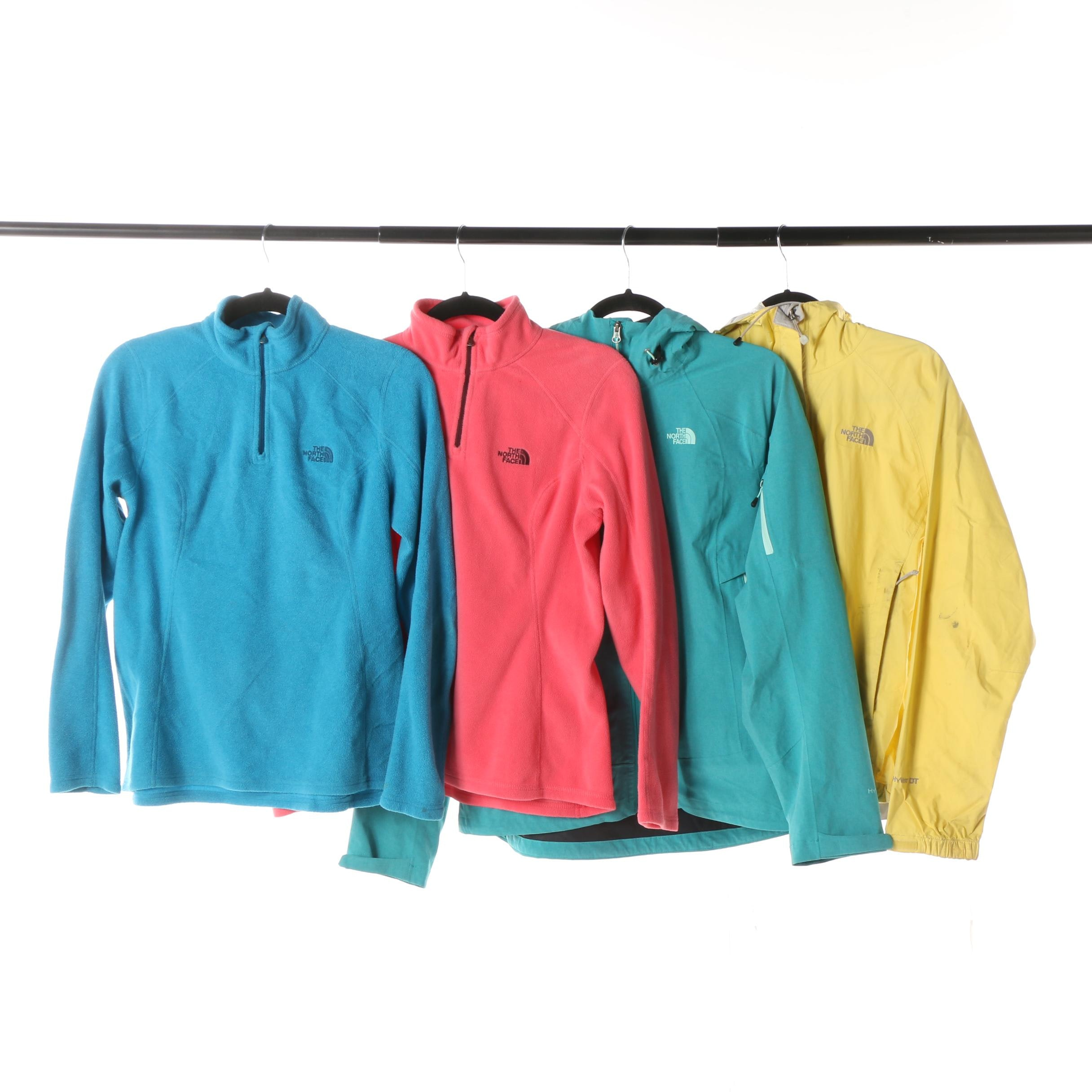 Women's The North Face Fleece Pullovers and Windbreaker Jackets