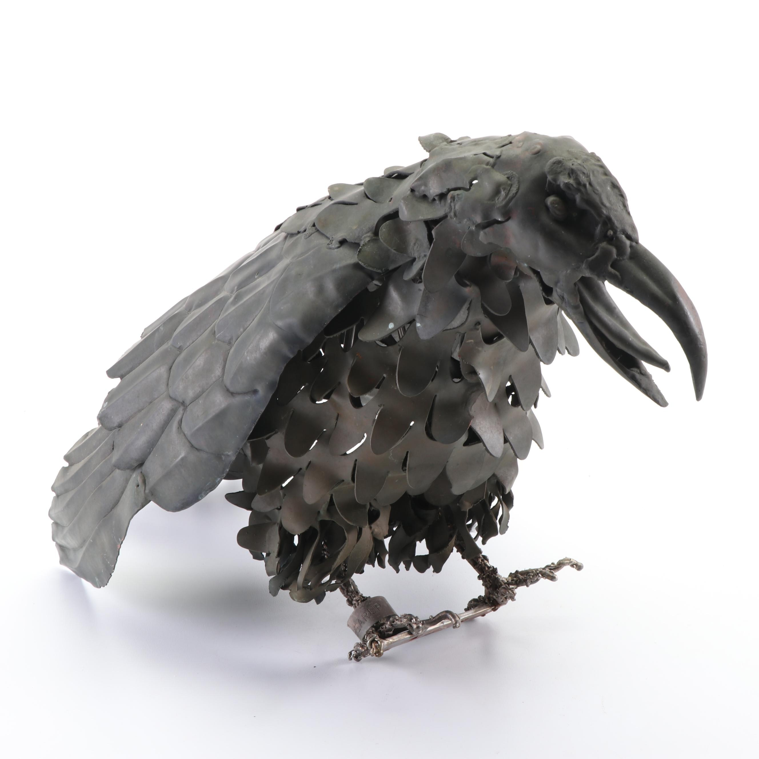 Welded Metal Bird Sculpture