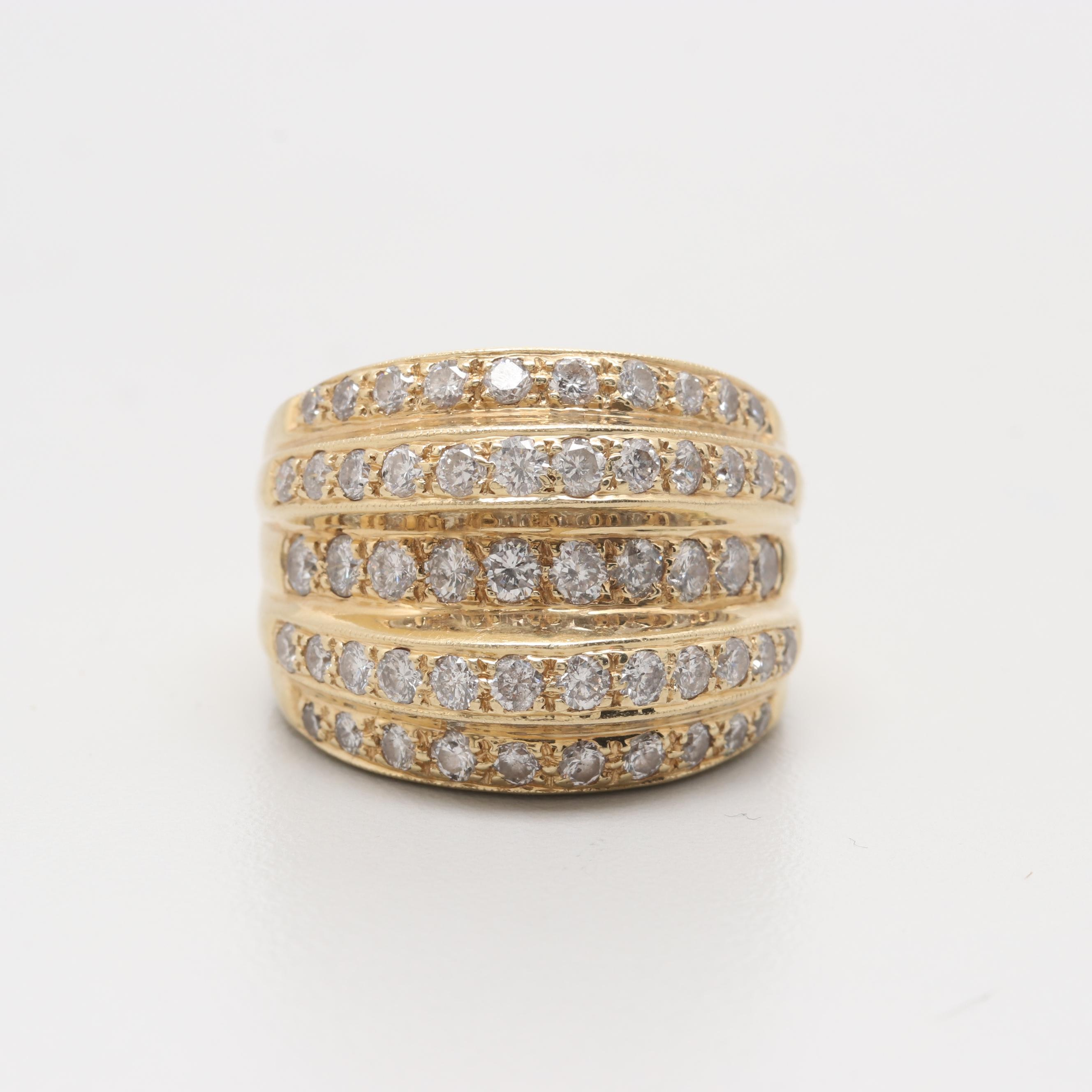 14K Yellow Gold 1.98 CTW Diamond Ring
