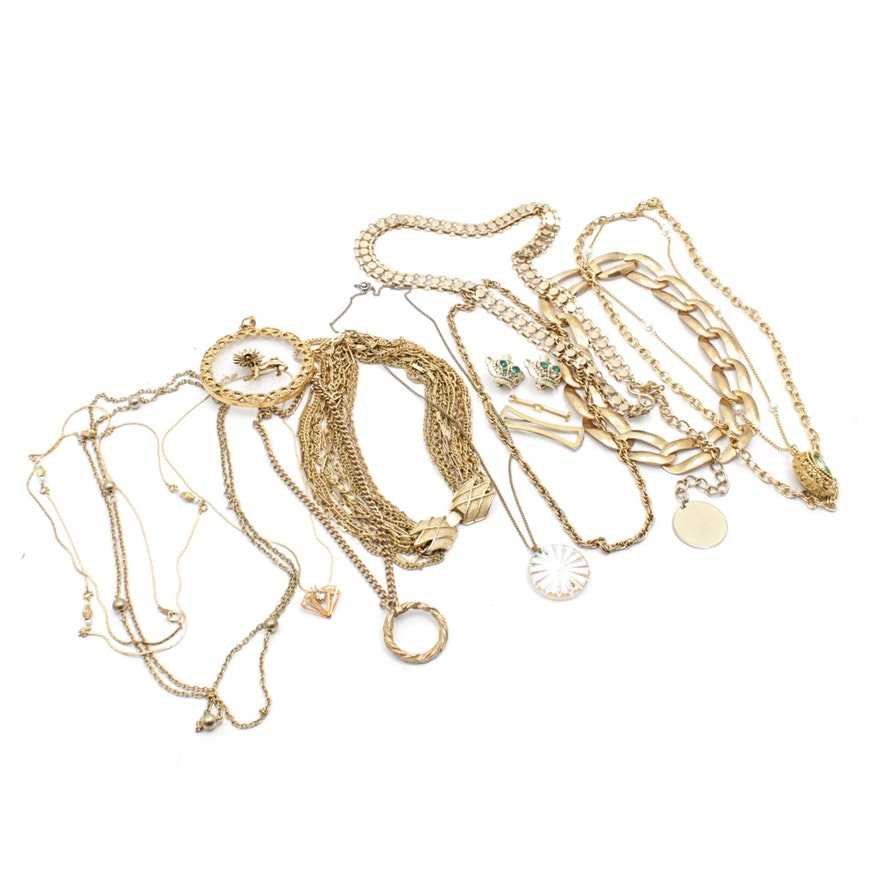 db44c735742 Gold Tone Costume Jewelry Assortment : EBTH