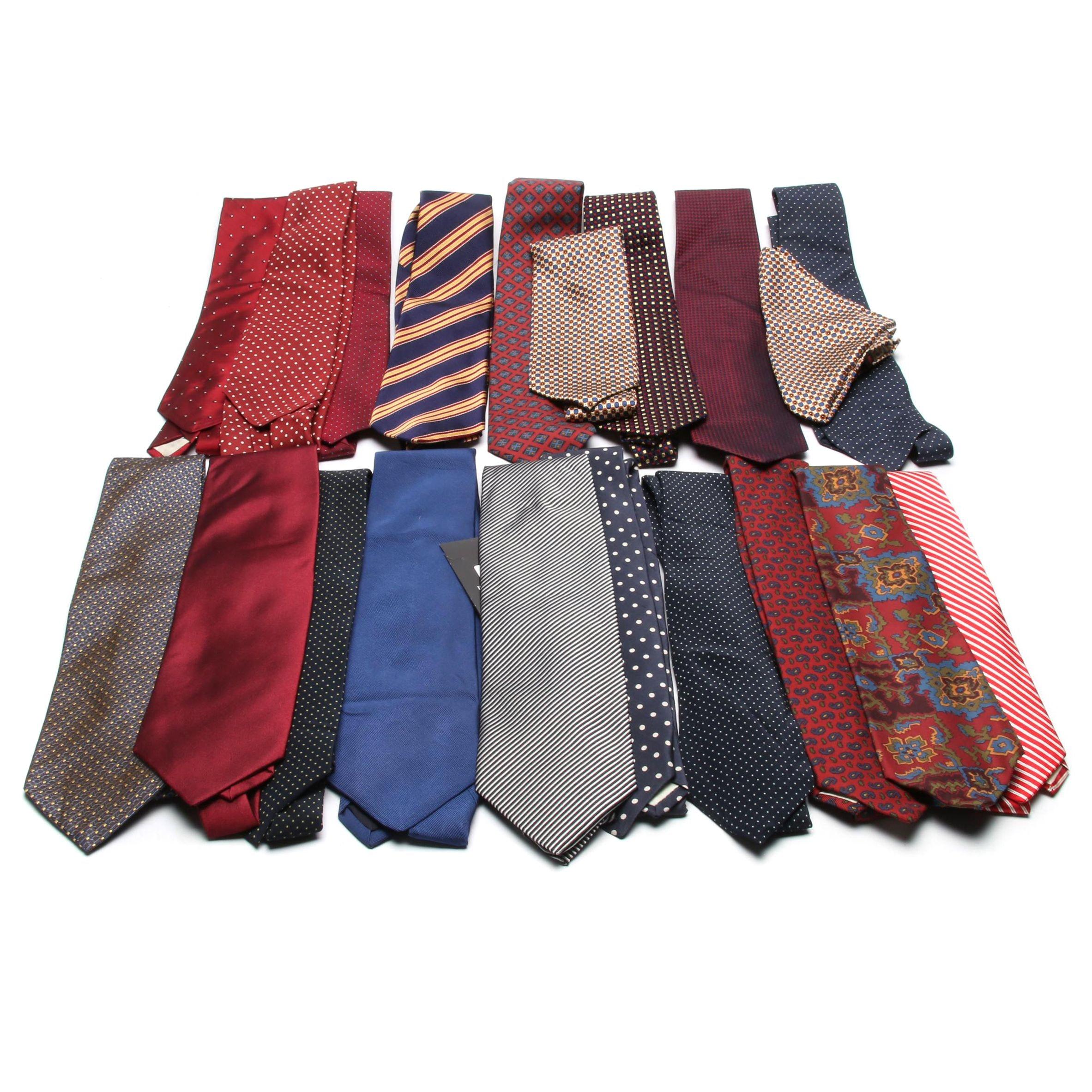Men's Giorgio Armani, Paul Stuart, Brooks Brothers, Loro Piana Silk Neckties