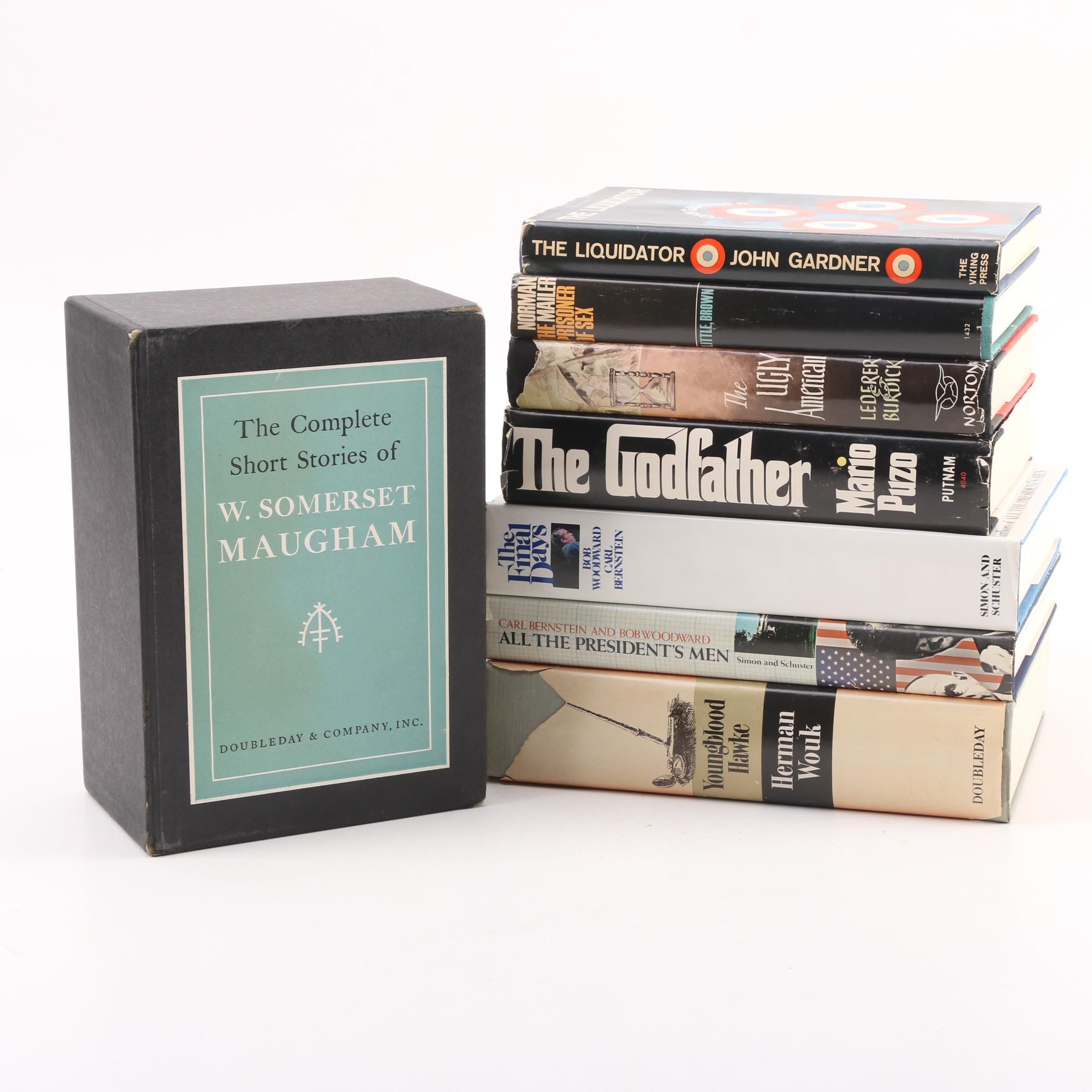 Vintage Books by Bob Woodward, Norman Mailer, John Gardner, and More