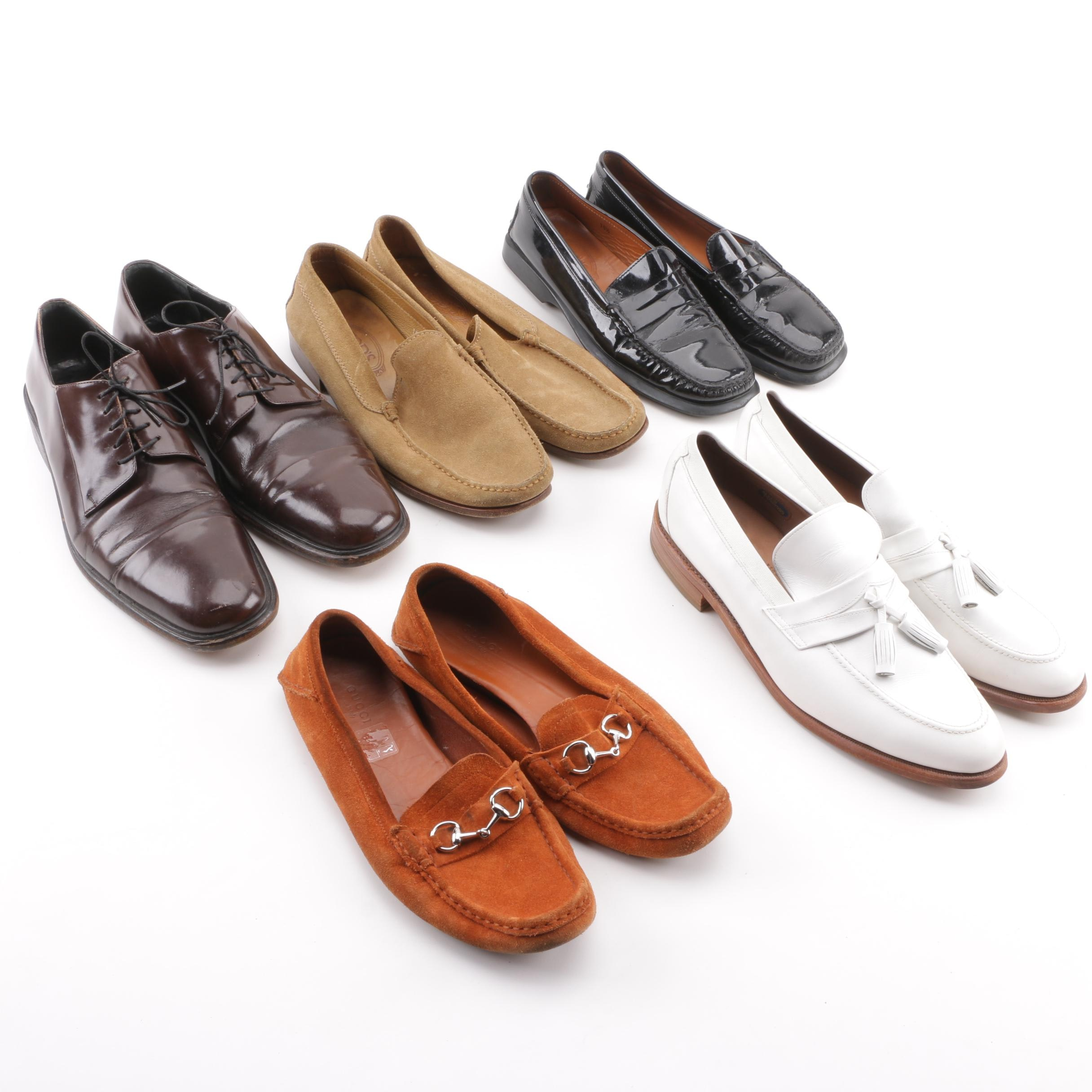 Men's Casual and Dress Shoes including Gucci, Tod's and Allen Edmonds