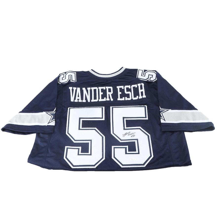 fee3e46e5 Leighton Vander Esch Autographed Replica Jersey - JSA COA   EBTH