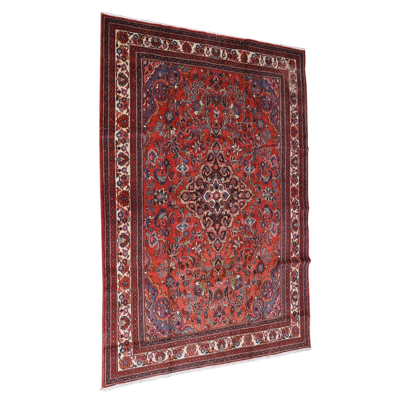 Hand-Knotted Persian Darjezine Wool Rug