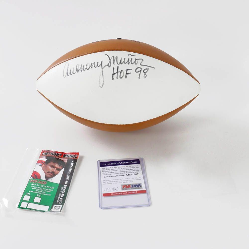 Anthony Muñoz (HOF) Autographed Football COA/PSA