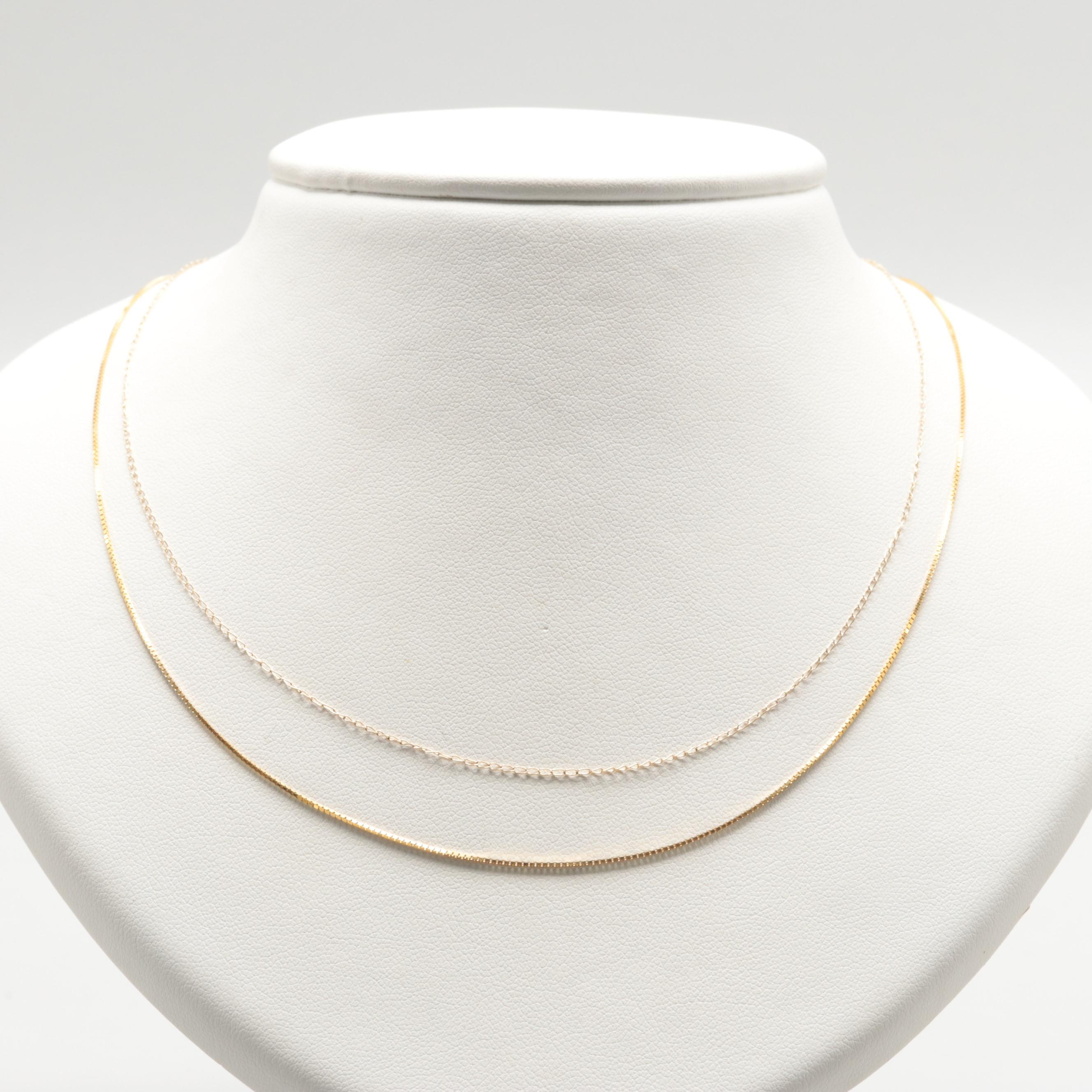 14K Yellow Gold Chain Necklaces