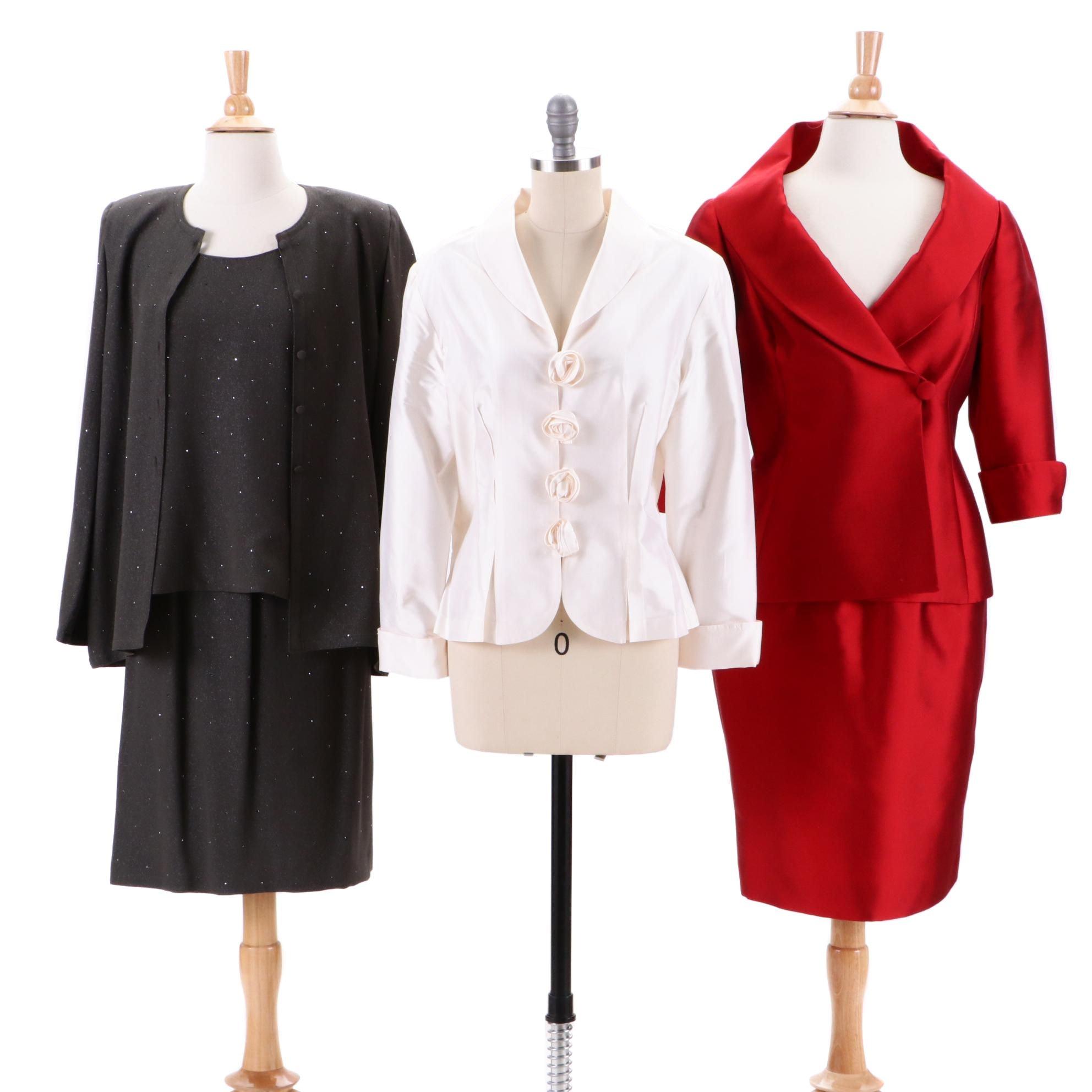 Sansappelle Skirt Suit, Marisa Baratelli Jacket and D&K Collection Skirt Suit