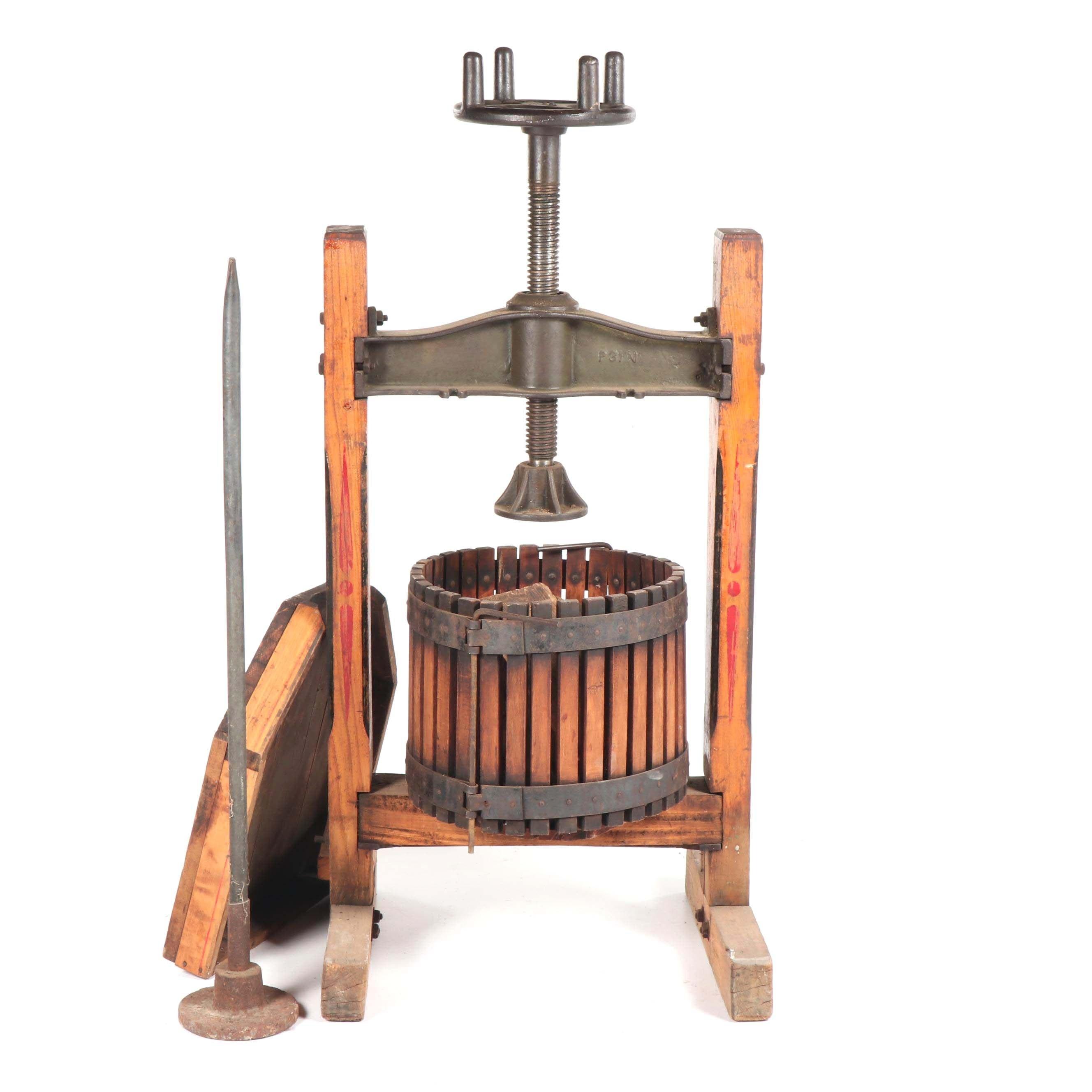 Antique Wooden Wine Press