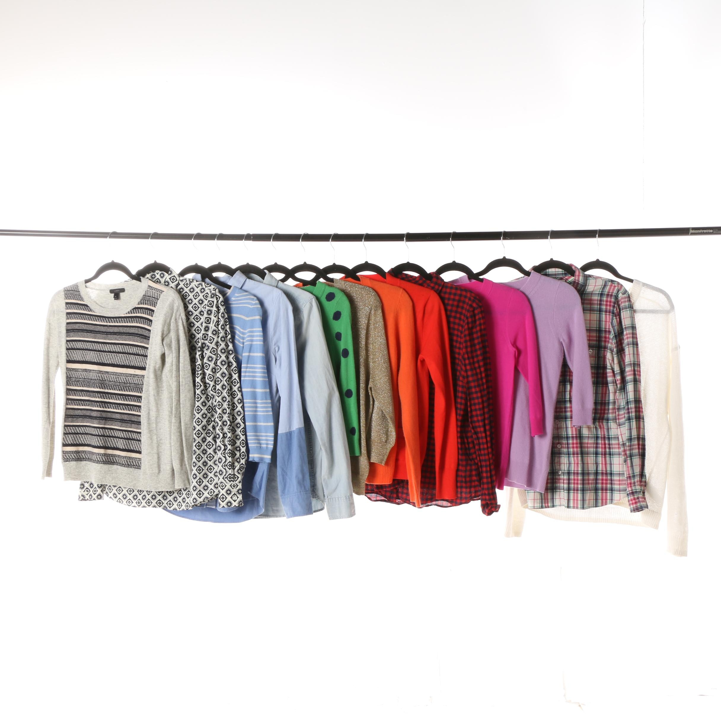 Women's J. Crew Button-Front Shirts, Cardigans and Sweaters