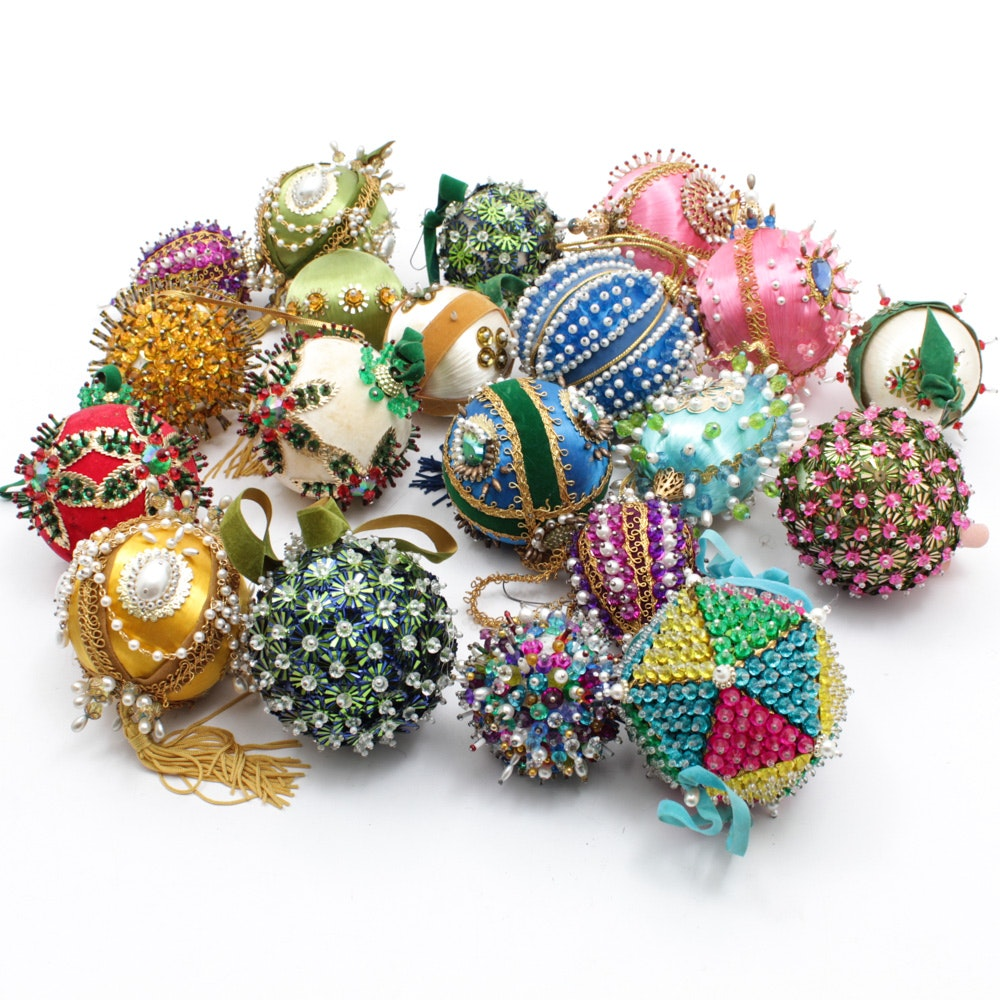 Vintage Beaded and Sequinned Christmas Ornaments