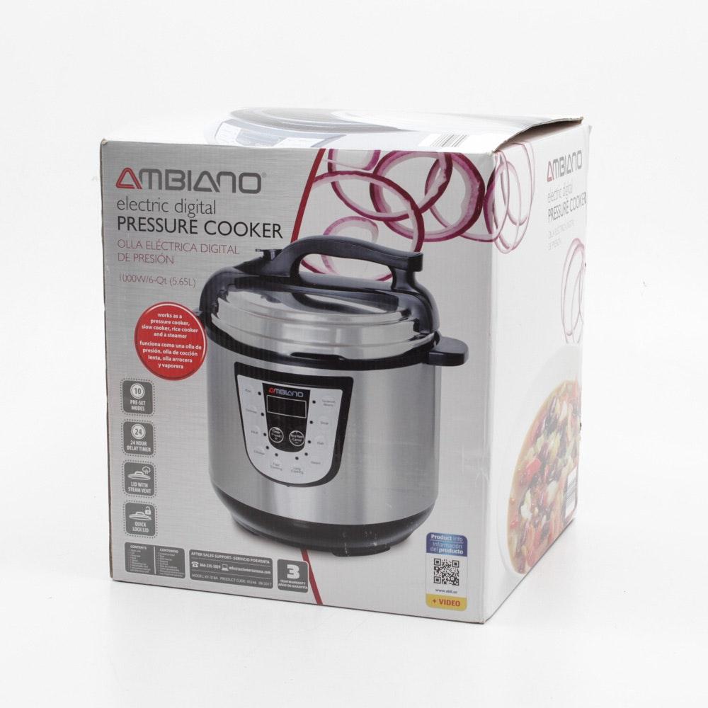 Ambiano Electric Digital Pressure Cooker