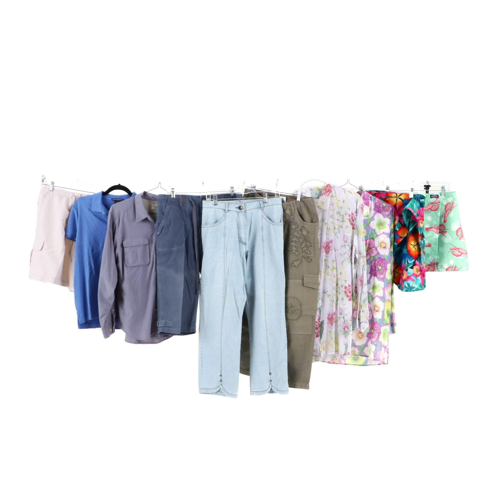 Ralph Lauren Sport, Ex Officio and Manuel Canovas Shirts, Pants, Shorts and Wrap