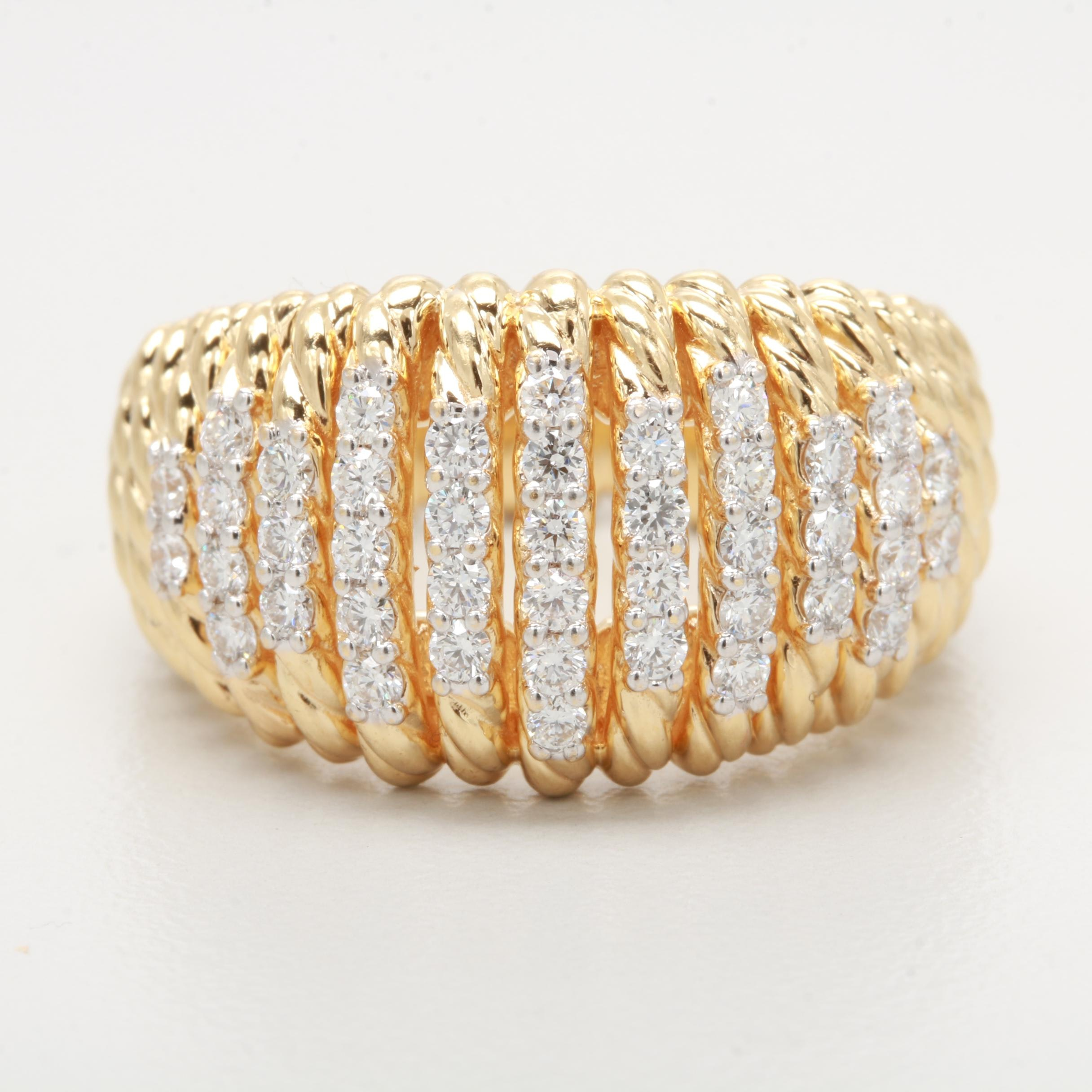 David Yurman 18K Yellow Gold 0.75 CTW Diamond Ring