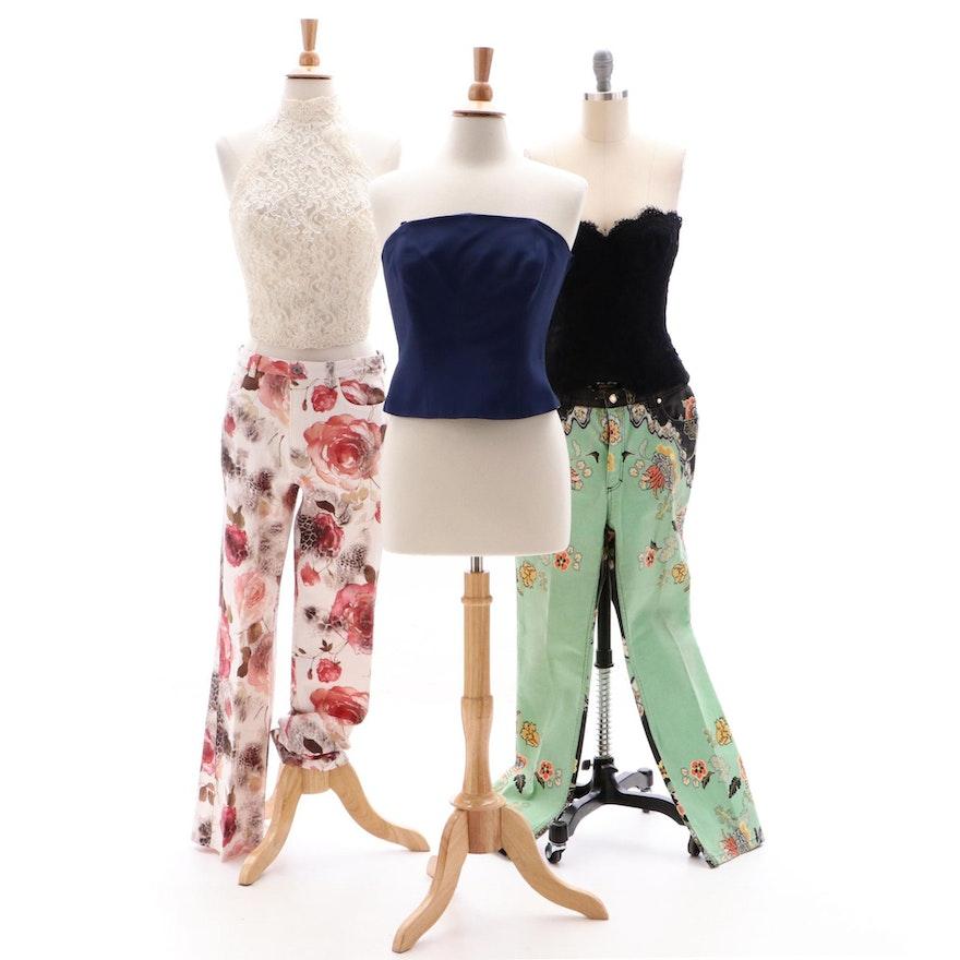 online store 9d749 81c04 Roberto Cavalli, Bianca, Donna Karan, Helena Stuart Jeans and Halter Tops