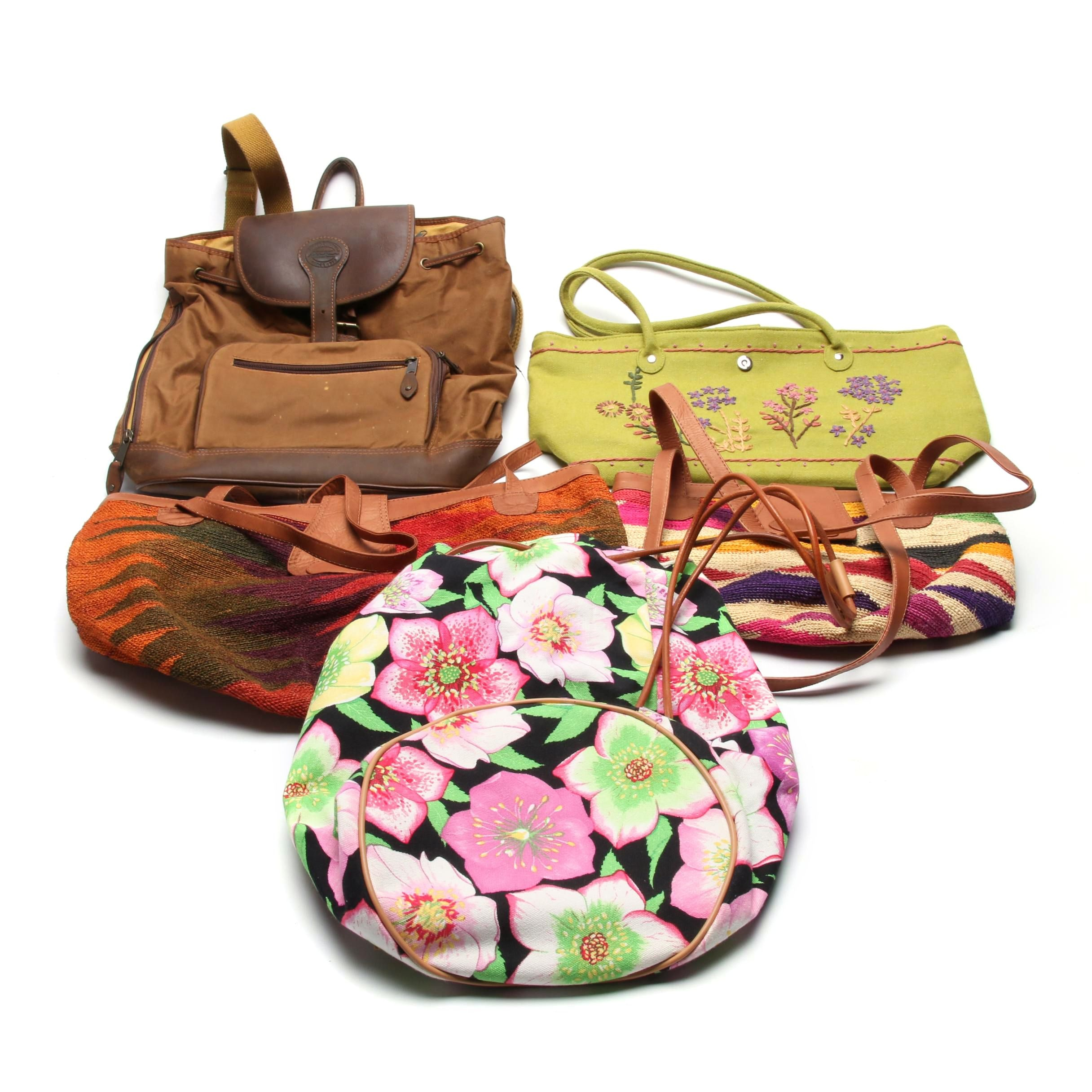 Eddie Bauer Backpack and Manuel Canovas Handbags, Shoulder Bags and More