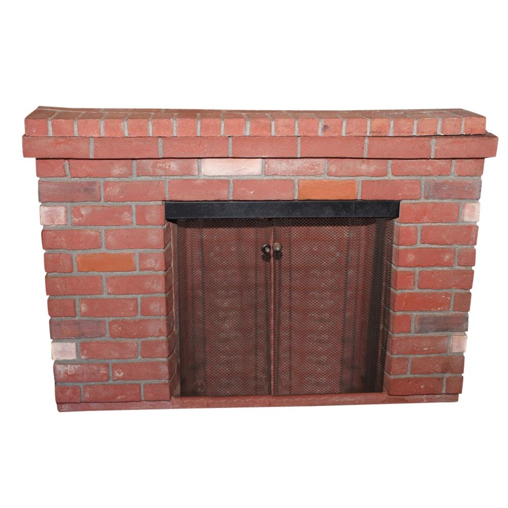 Electric Brick Surround Fireplace