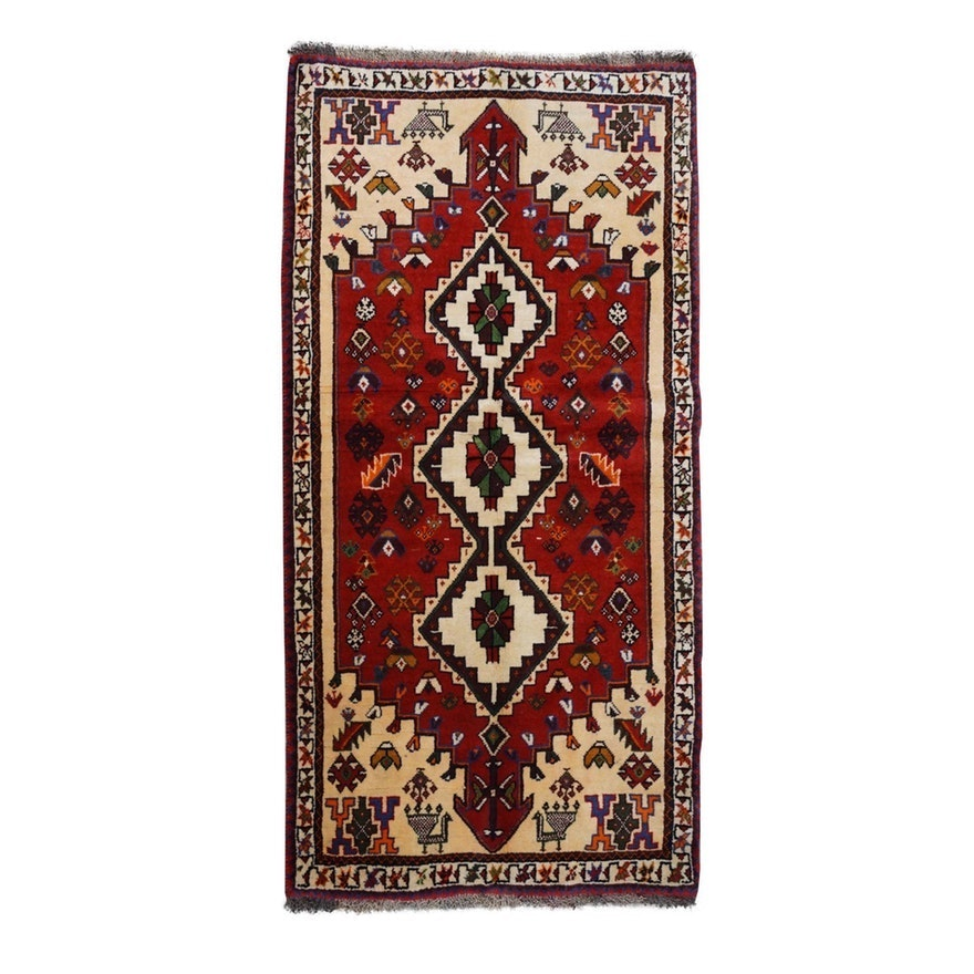 Hand-Knotted Southwest Persian Wool Rug