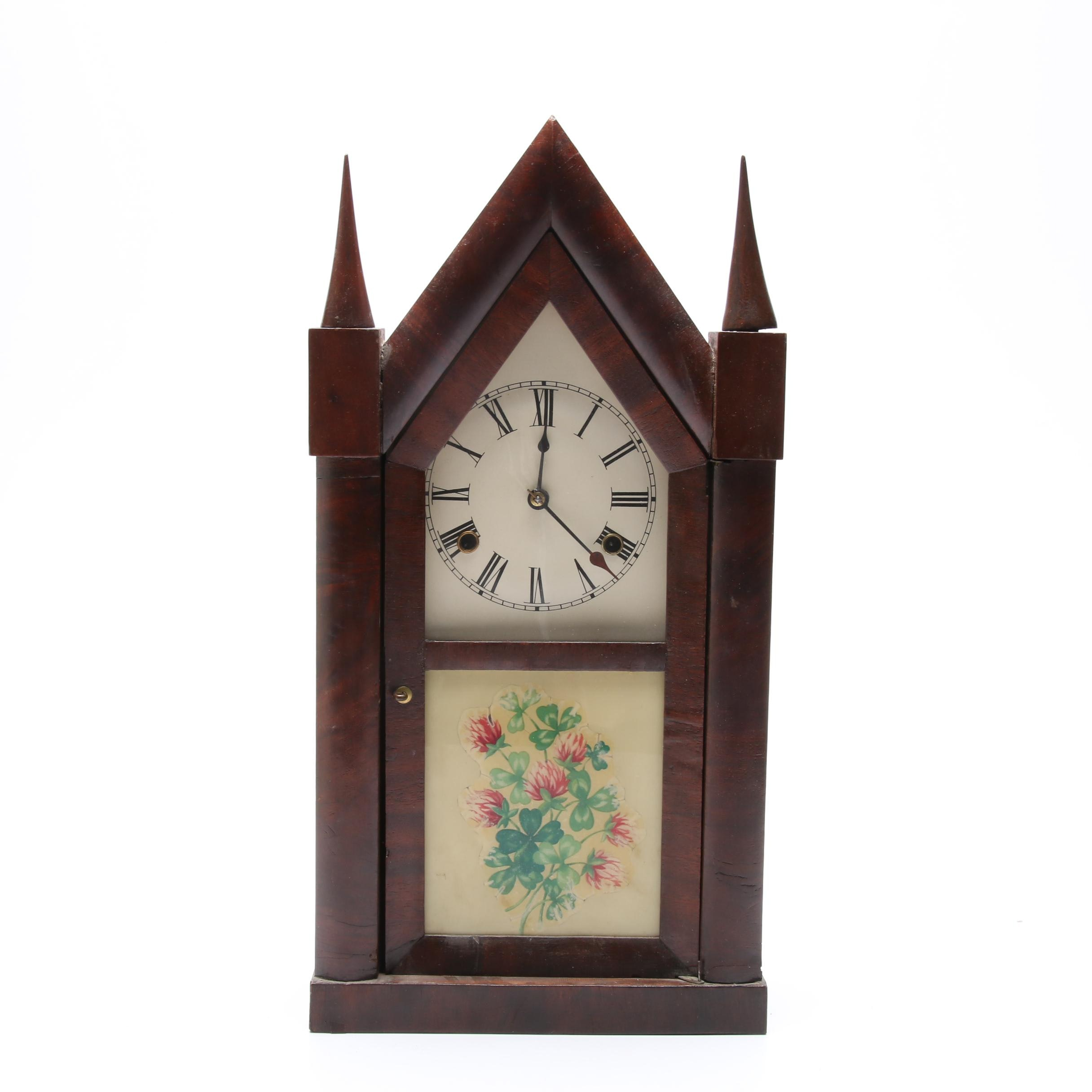 Chauncey Jerome Eight-Day Steeple Mantel Clock, Early to Mid 19th Century