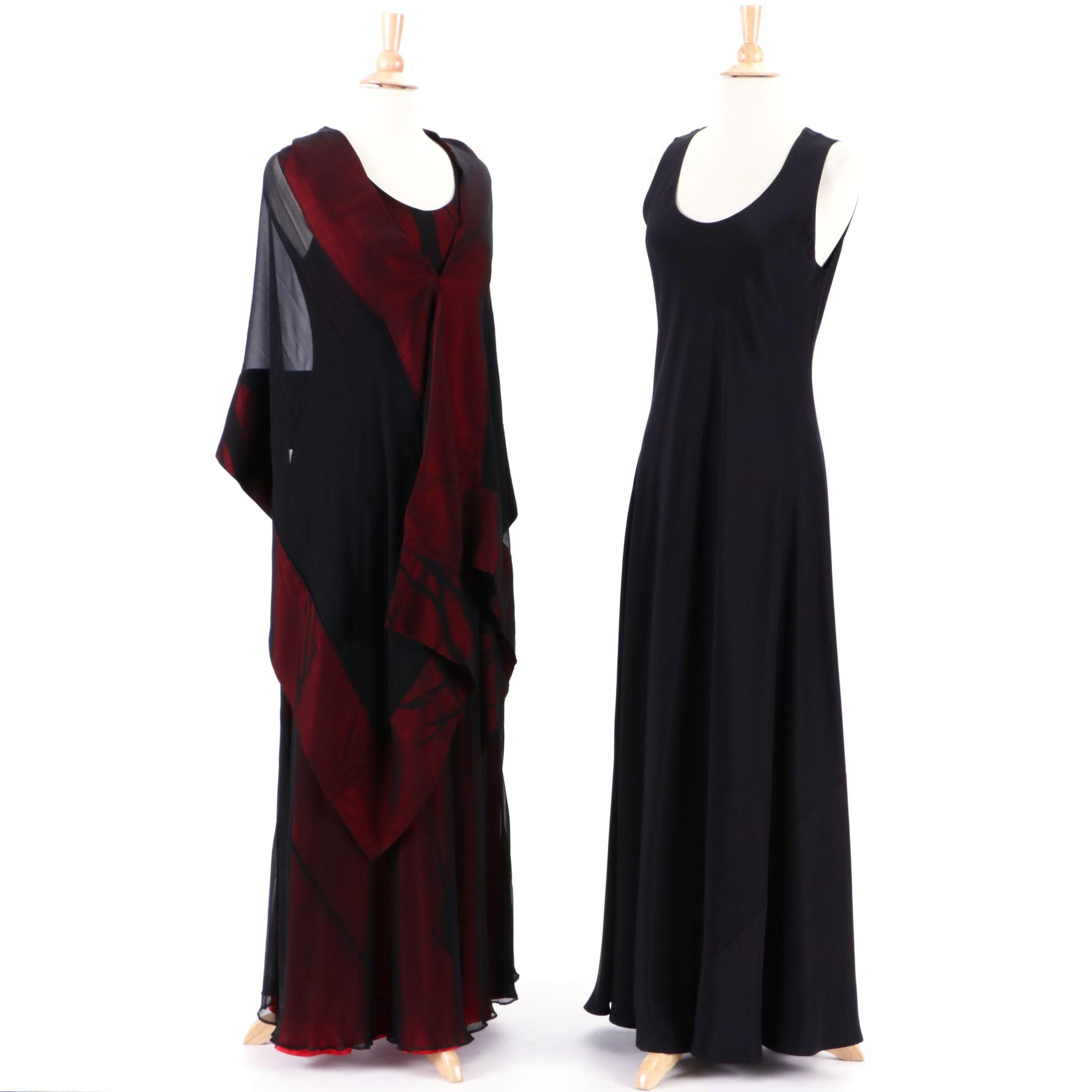Women's Kane Sells Studio Sleeveless Evening Dresses including Shoulder Wrap