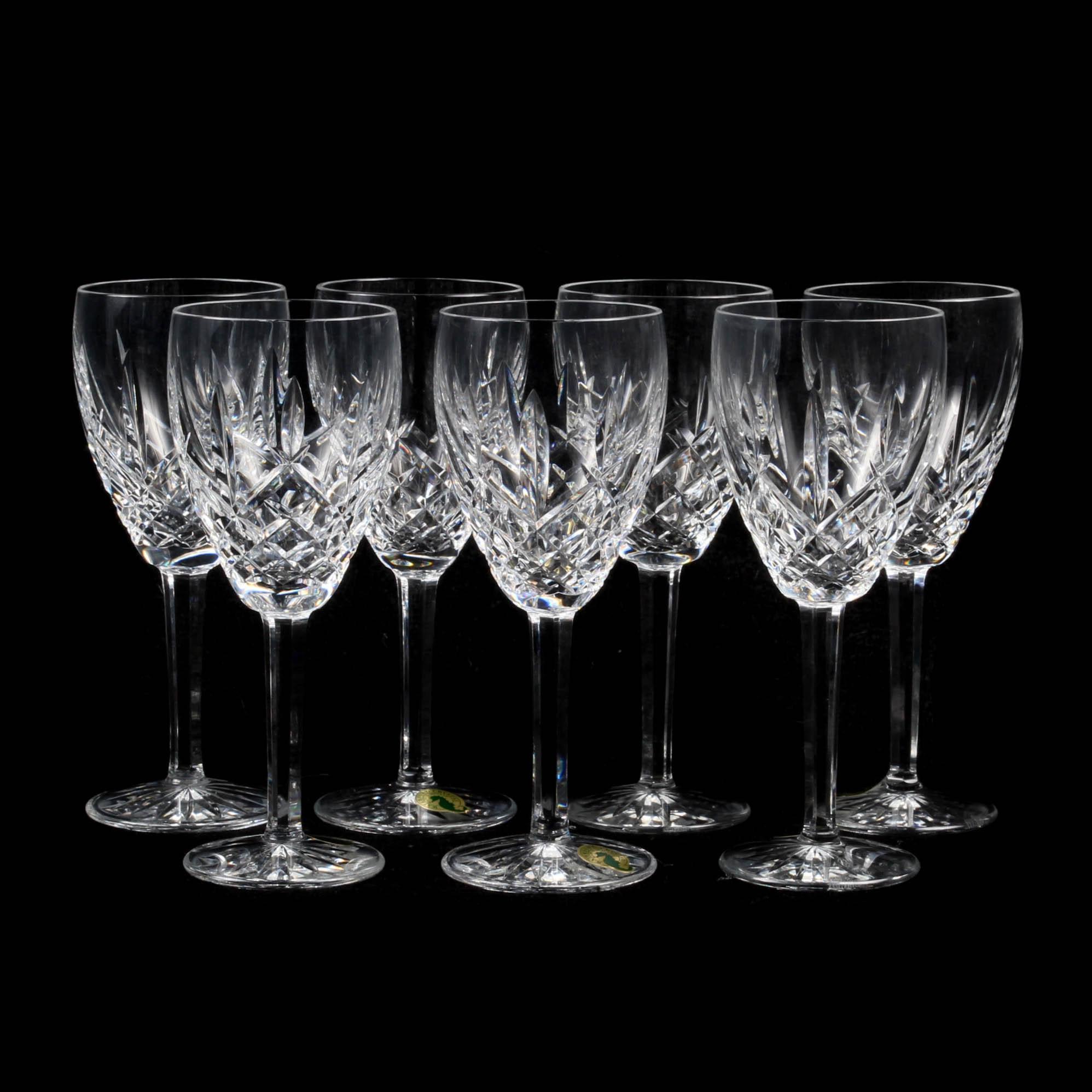 "Waterford Crystal ""Araglin"" Wine Glasses"