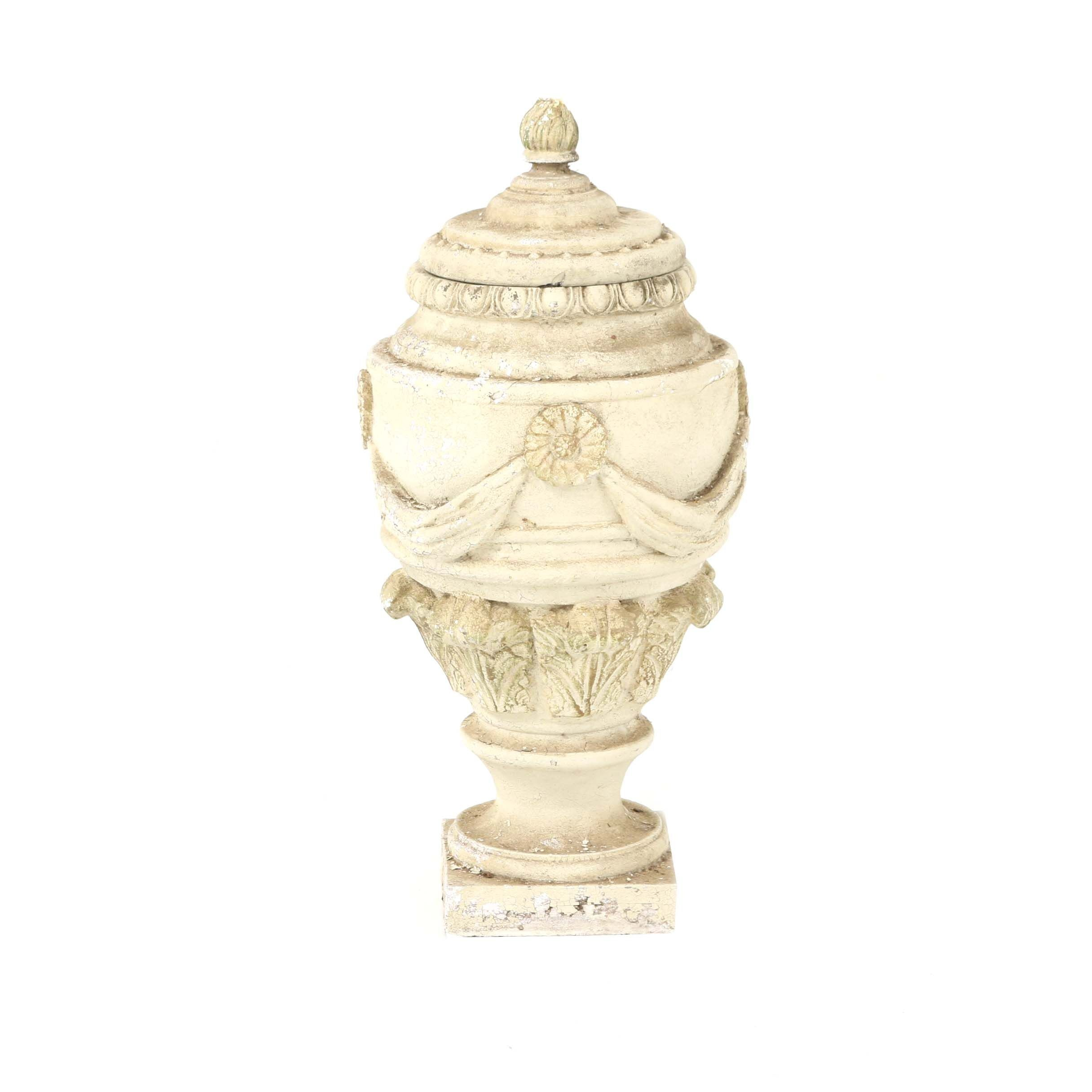 Cast Resin Neoclassical Style Garden Urn