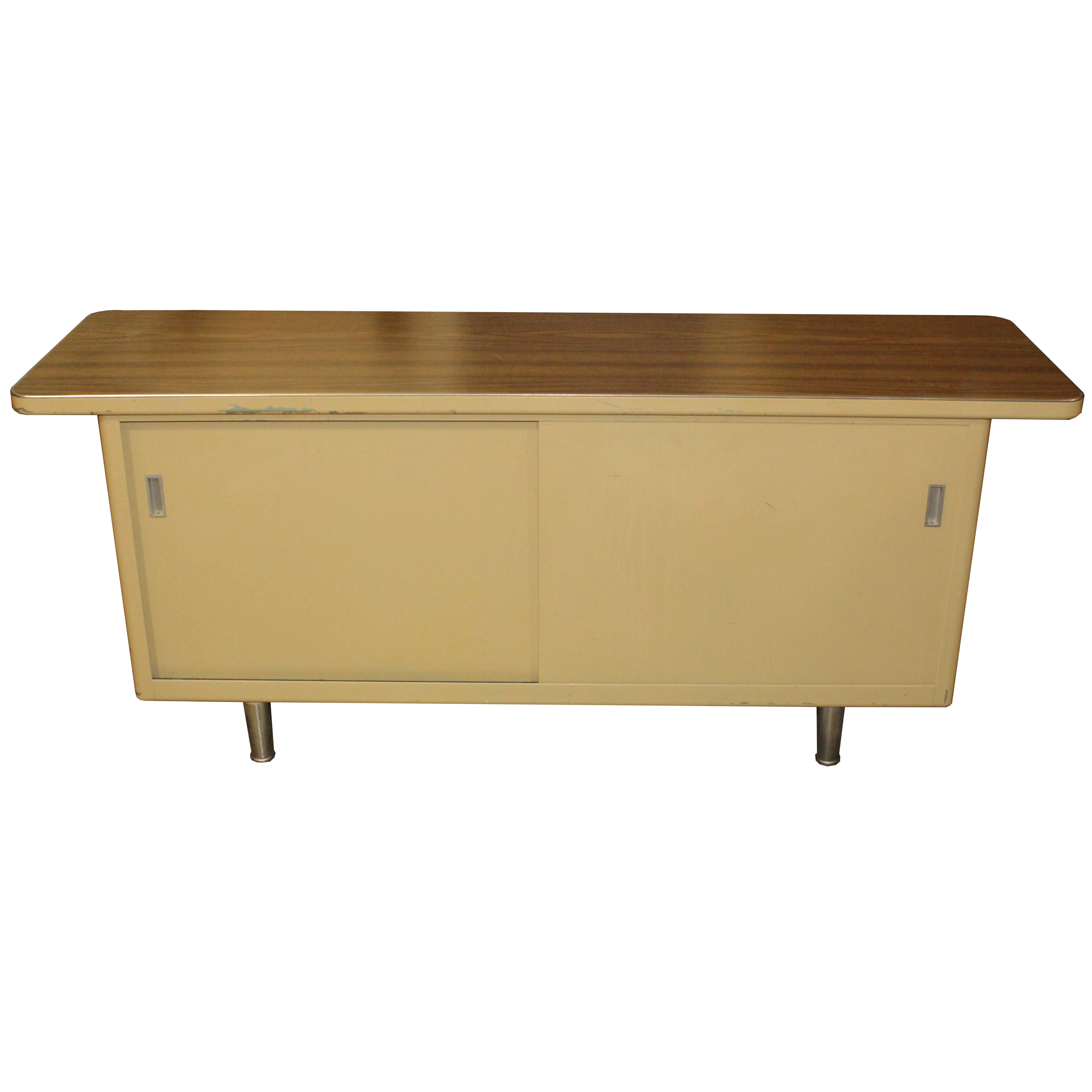 Metal Office Credenza by Steelcase, Mid-20th Century