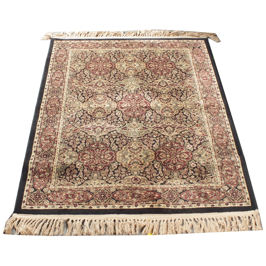 """Hand Knotted Indo Persian Obeetee Wool Area Rug Ebth: Marcella """"Verona"""" Viscose Rug"""