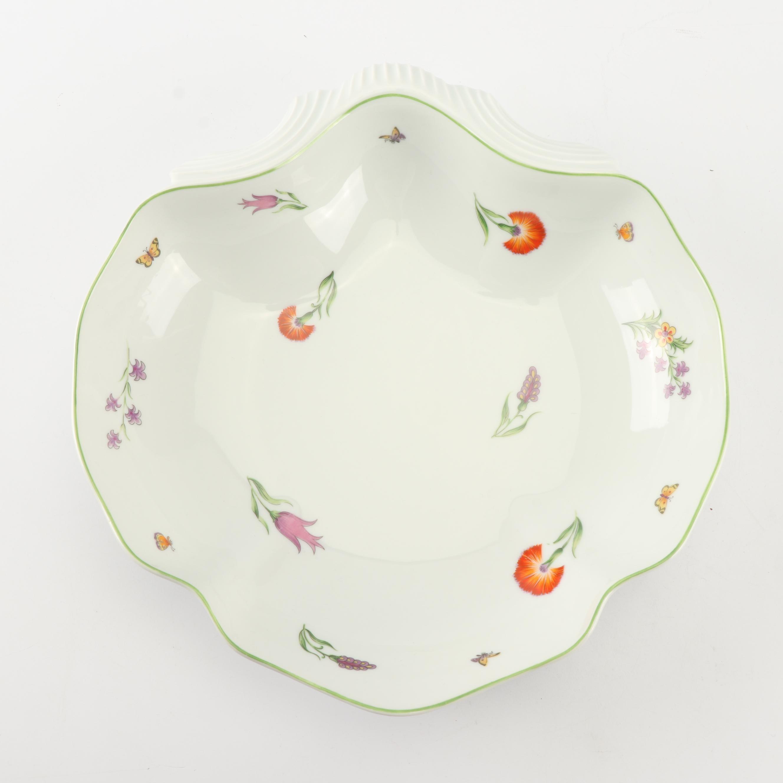 """Tiffany & Co. """"Tiffany Garden"""" Porcelain Shell Shaped Dish"""