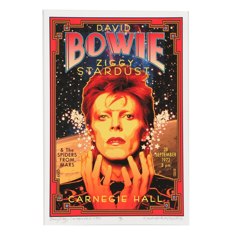 "David Edward Byrd Giclée ""Bowie/Ziggy at Carnegie Hall 1972"""