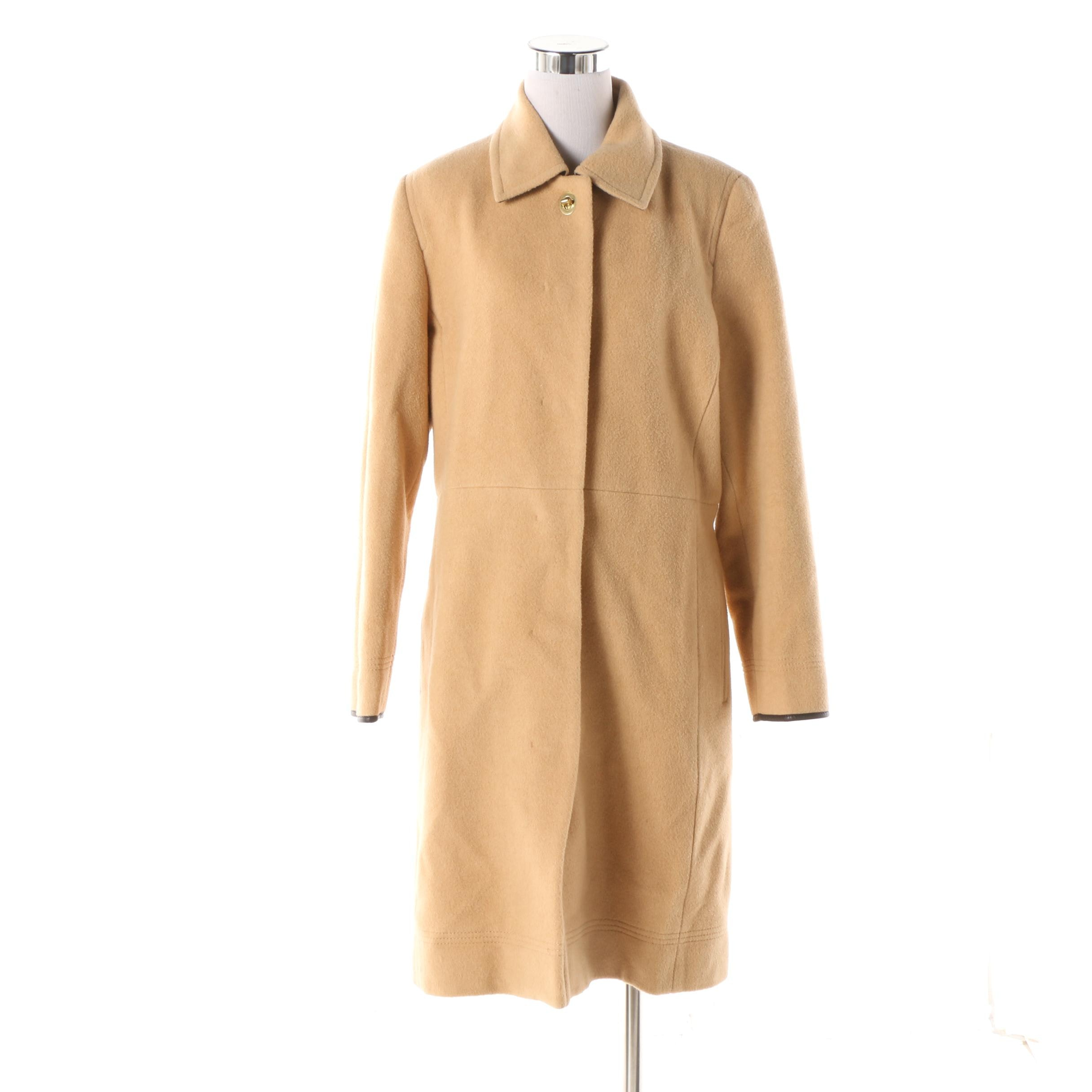 Women's Coach Camel Hair Overcoat
