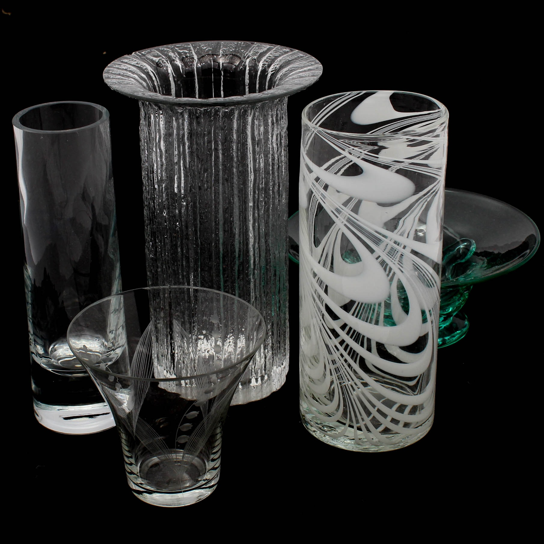 Decorative Glass Vases Featuring Tiffany & Co. Crystal