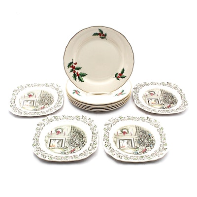 Decorative Christmas Plates Featuring Johnson Bros. and Pickard