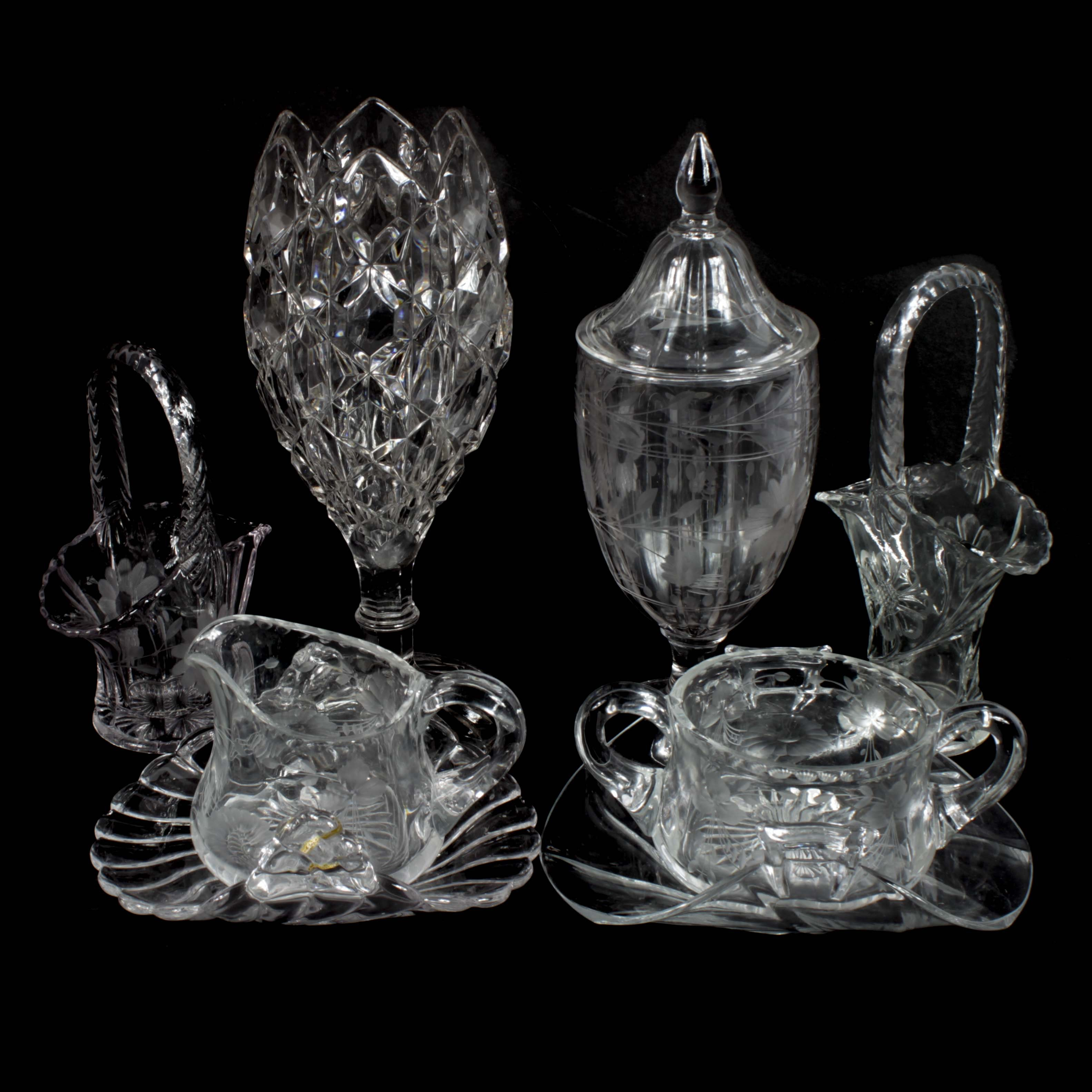 Collection of American Pressed Glass Including Heisey