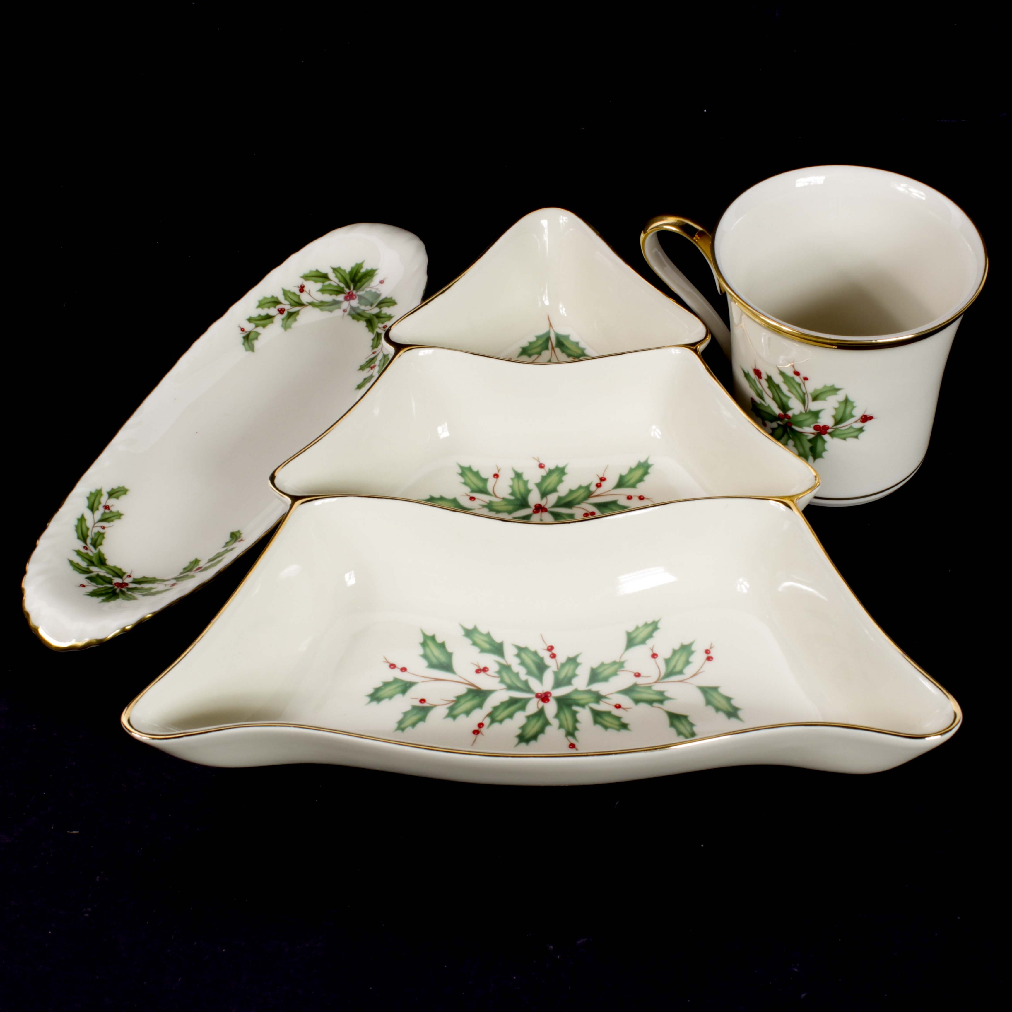 "Lenox ""Holiday"" Pattern Bone China Tableware"