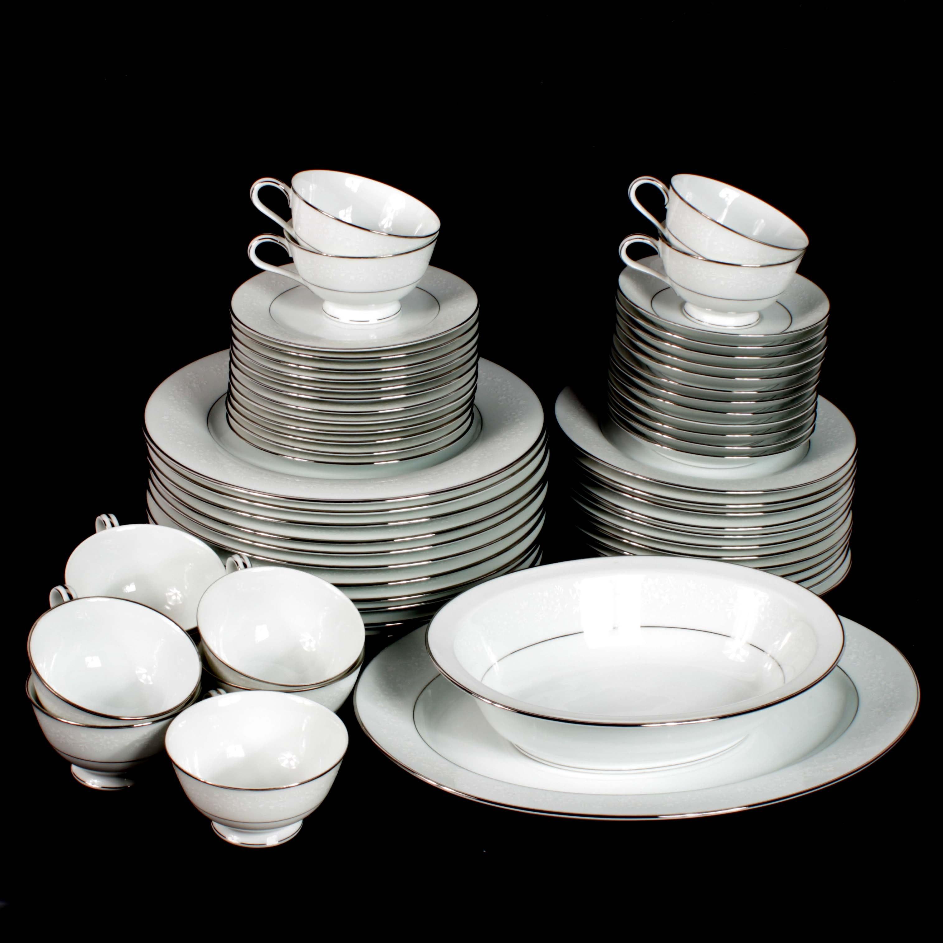 """Noritake """"Buckingham"""" Porcelain Dinner Service"""