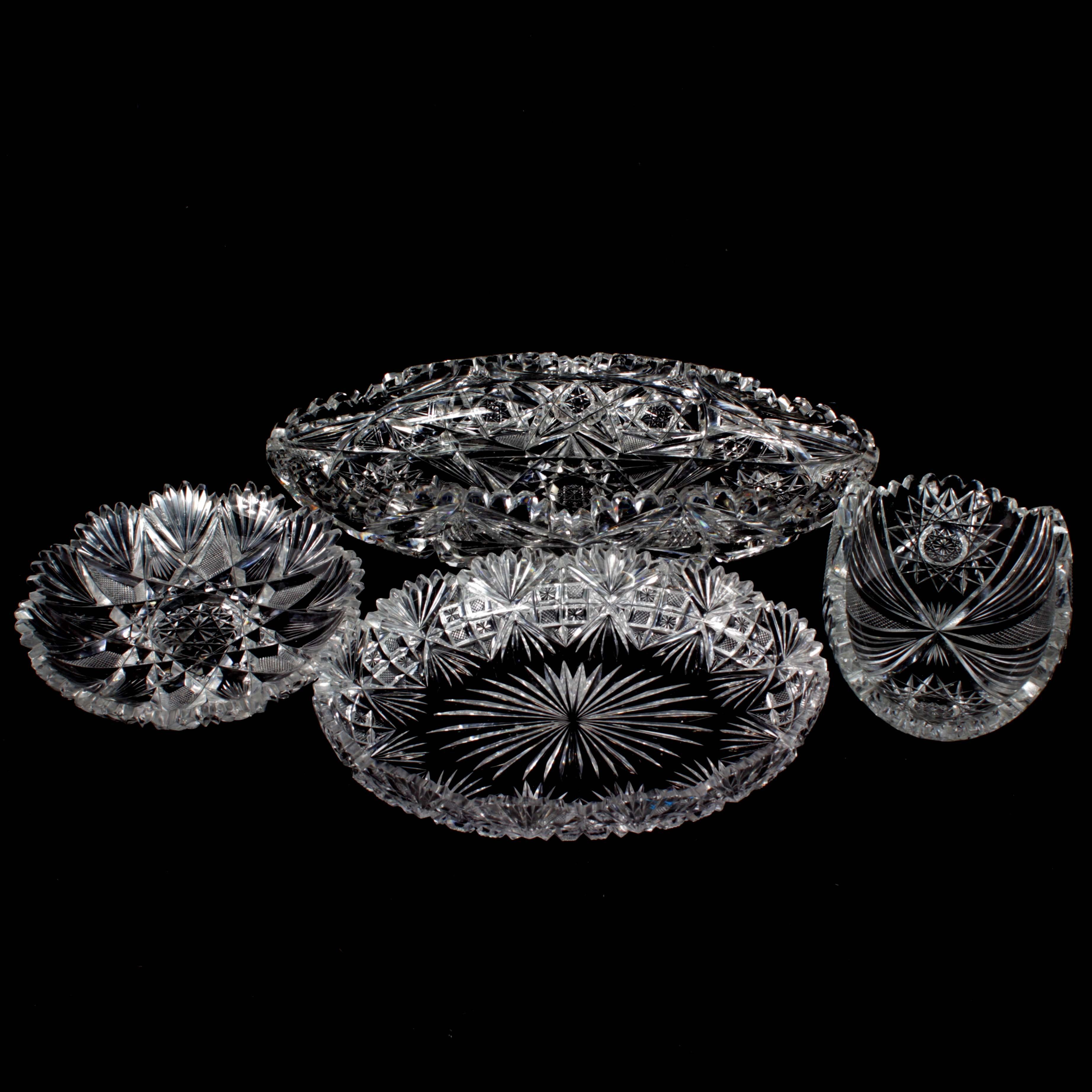 Collection of American Brilliant Period Cut Glass