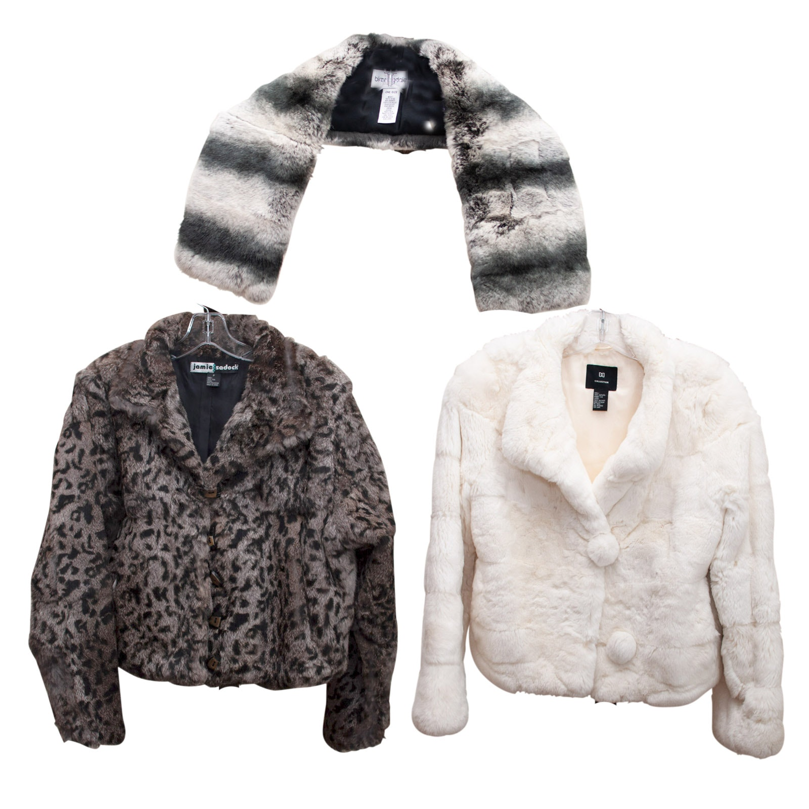 Women's Rabbit Fur Jackets and Scarf by J. Sadock, Doncaster and Bloomingdale's
