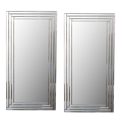 Contemporary Beveled Wall Mirrors