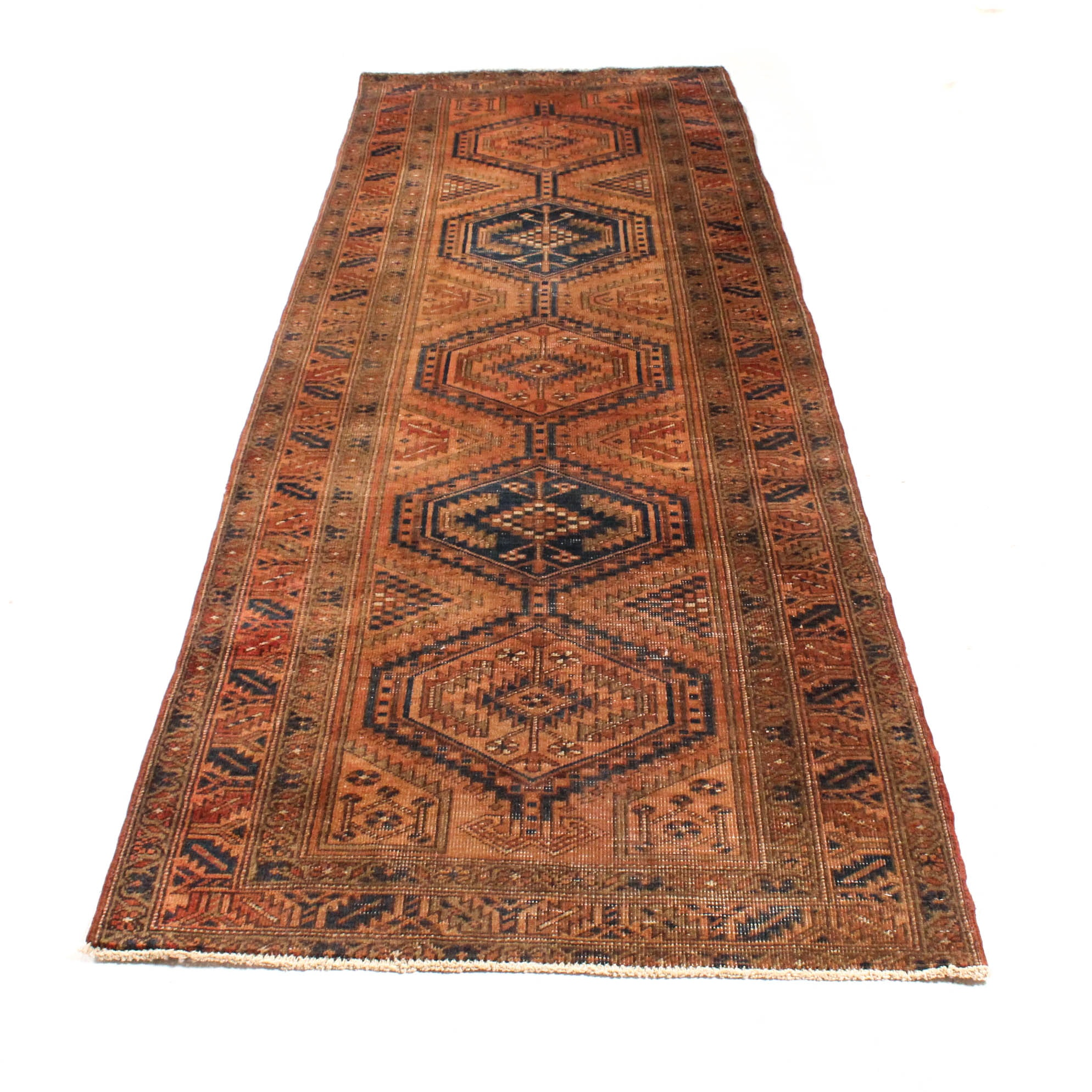 Hand-Knotted Eastern Anatolian Long Rug