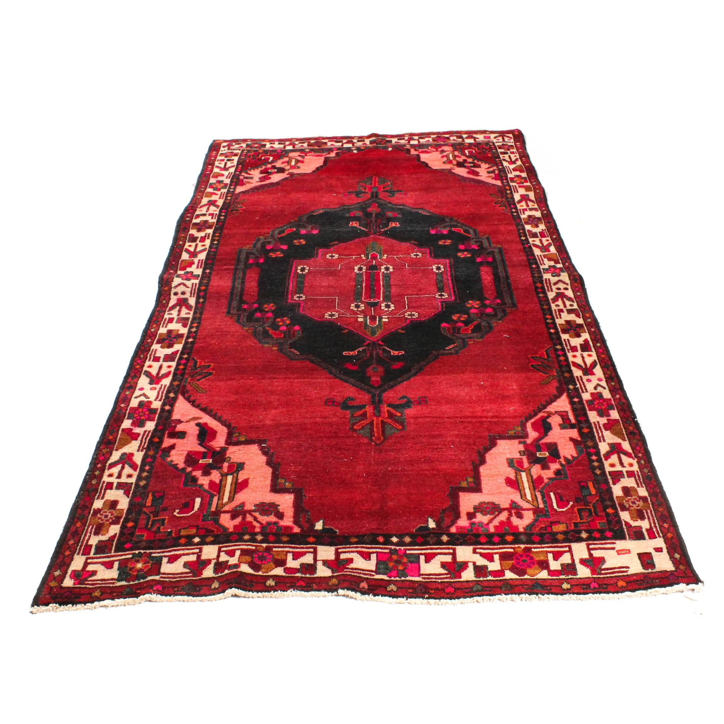 Hand-Knotted Persian Sarouk Rug