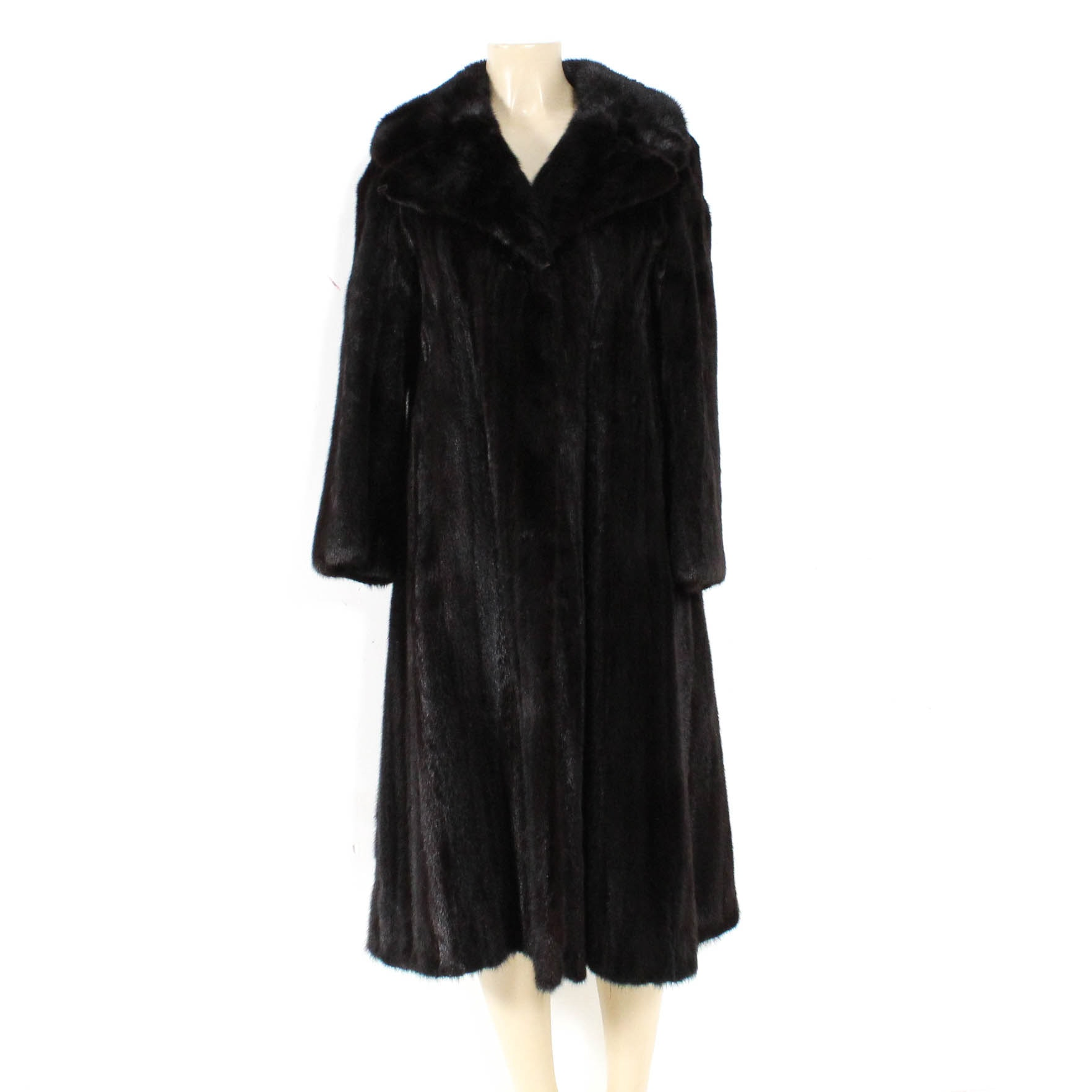 Mink Fur Full-Length Coat with Belt by The Union