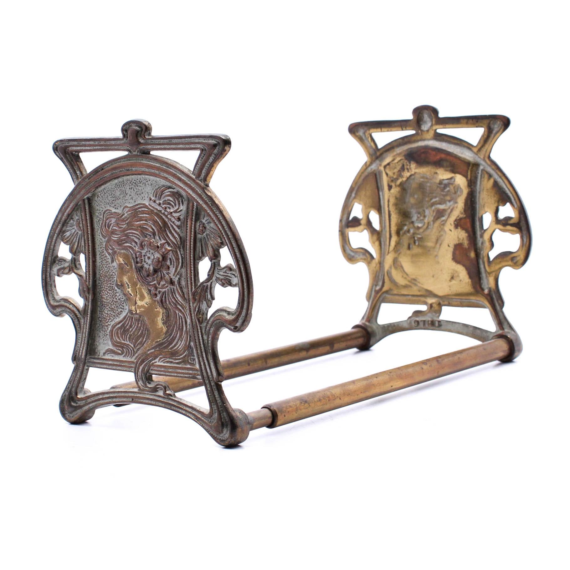 Expandable Art Nouveau Bookends