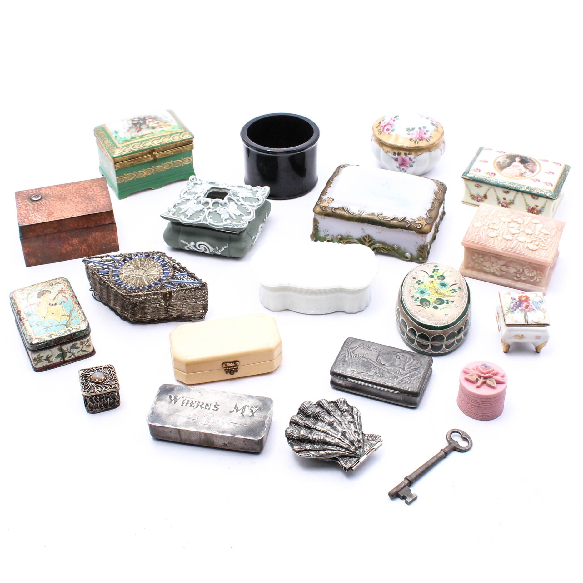 Antique and Vintage Trinket Box Collection