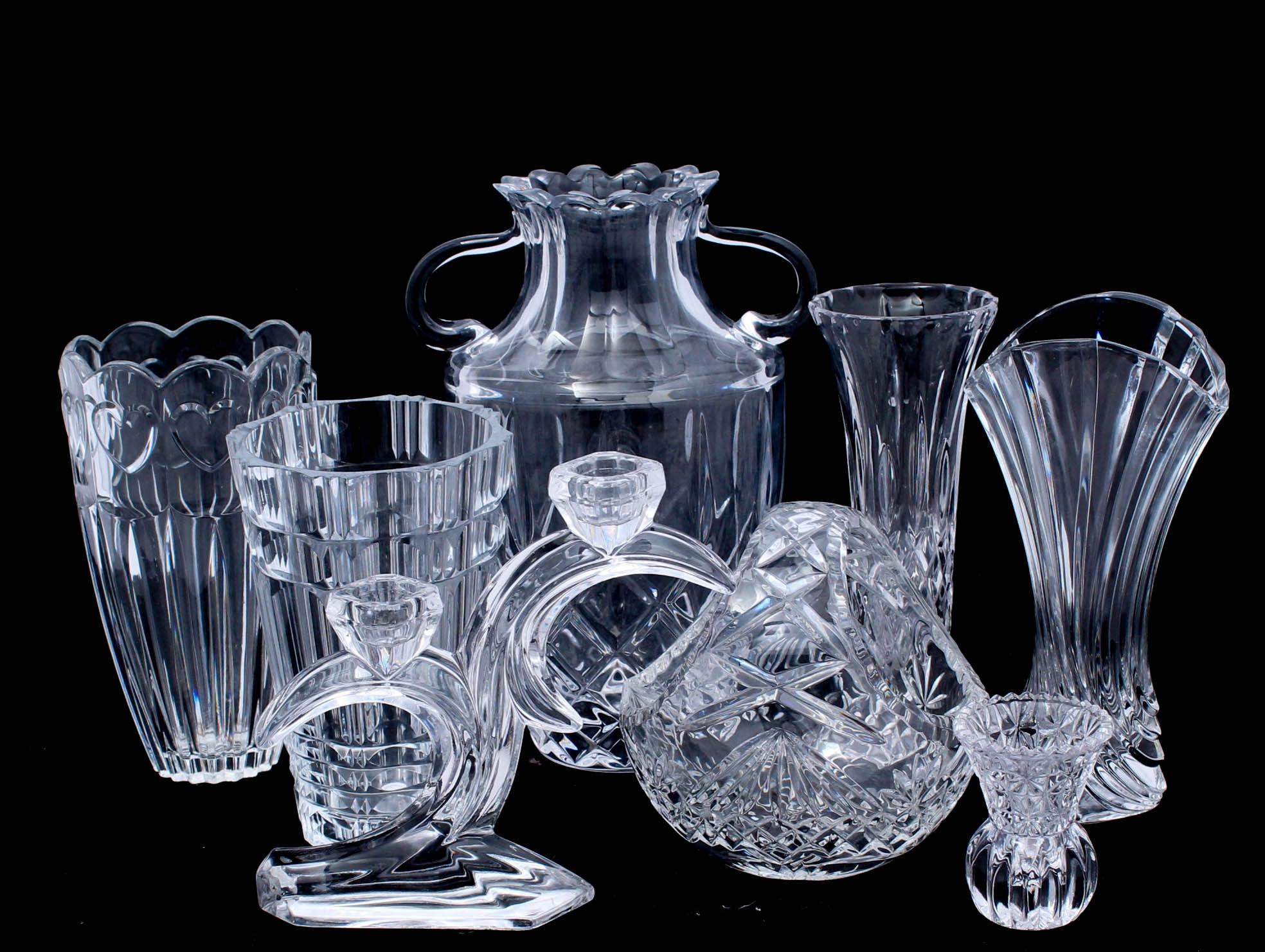 Crystal and Glass Decor Featuring Mikasa and Macryl Crystal